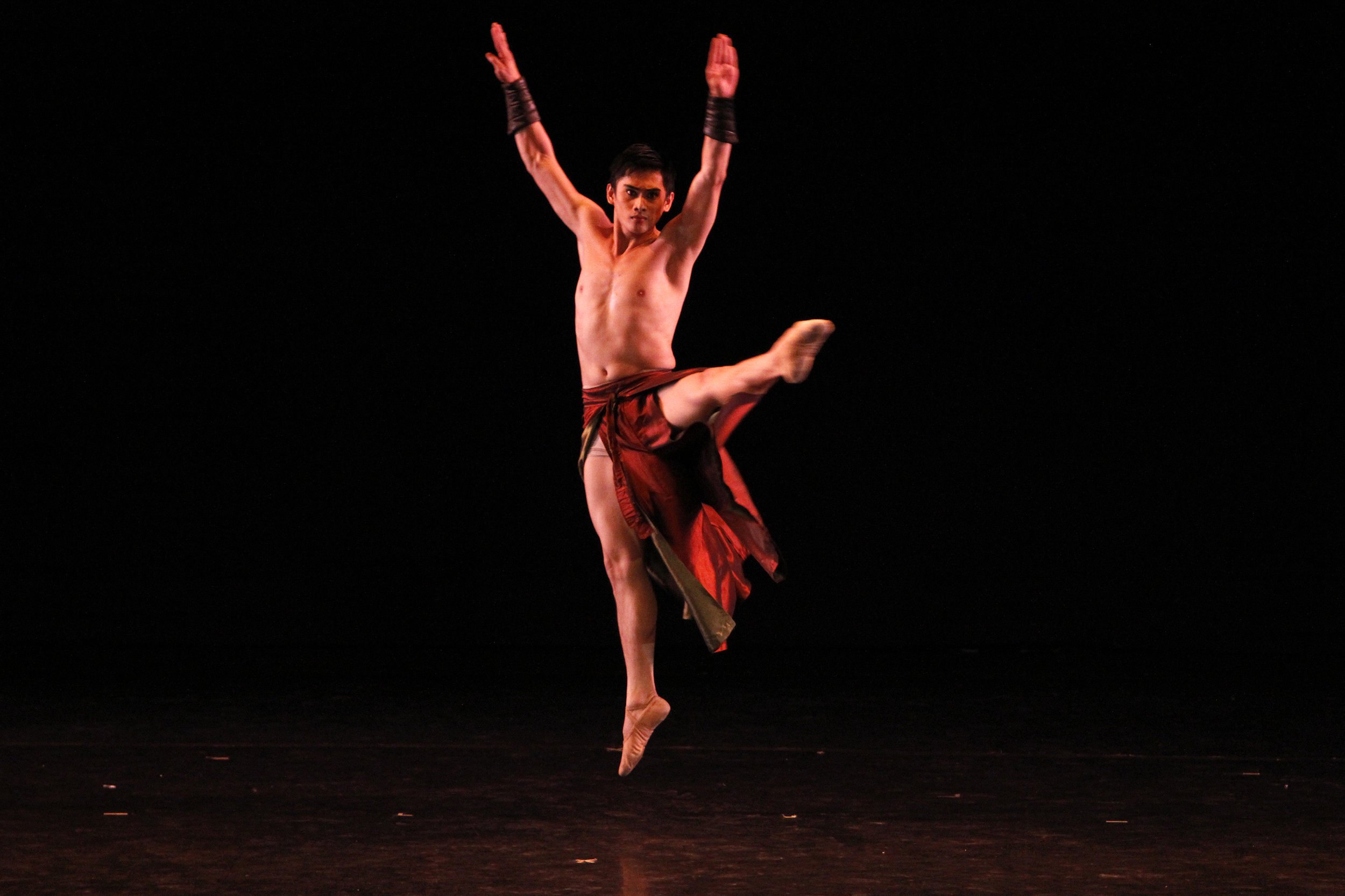 Soloist Alfren Salgado – seen here in Bam Damian's    Reconfigured    – says that what he gets in return for dancing is priceless. It is a happiness deep inside that he can't quite describe. Photo by Ocs Alvarez