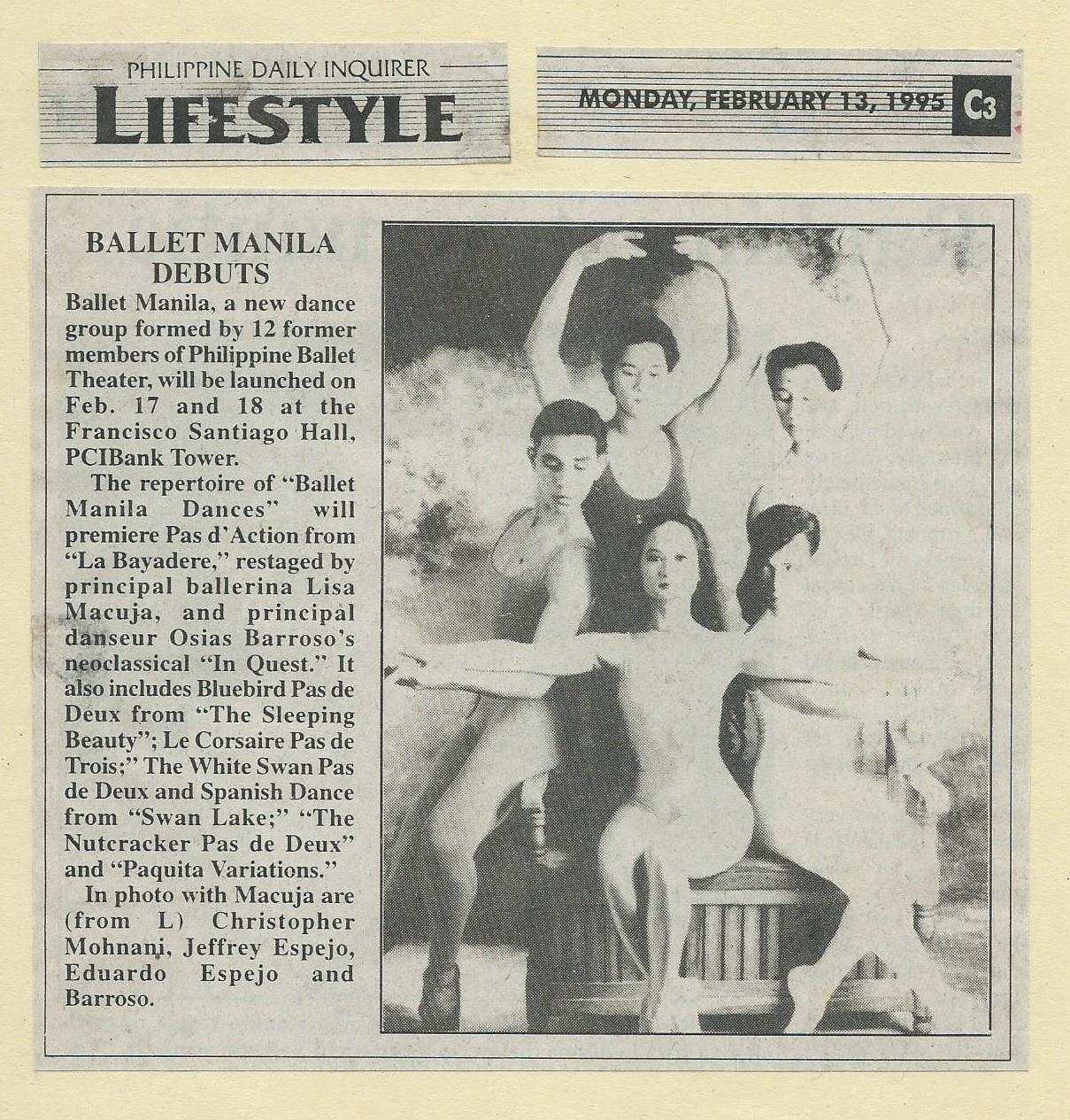 Ballet Manila Debuts