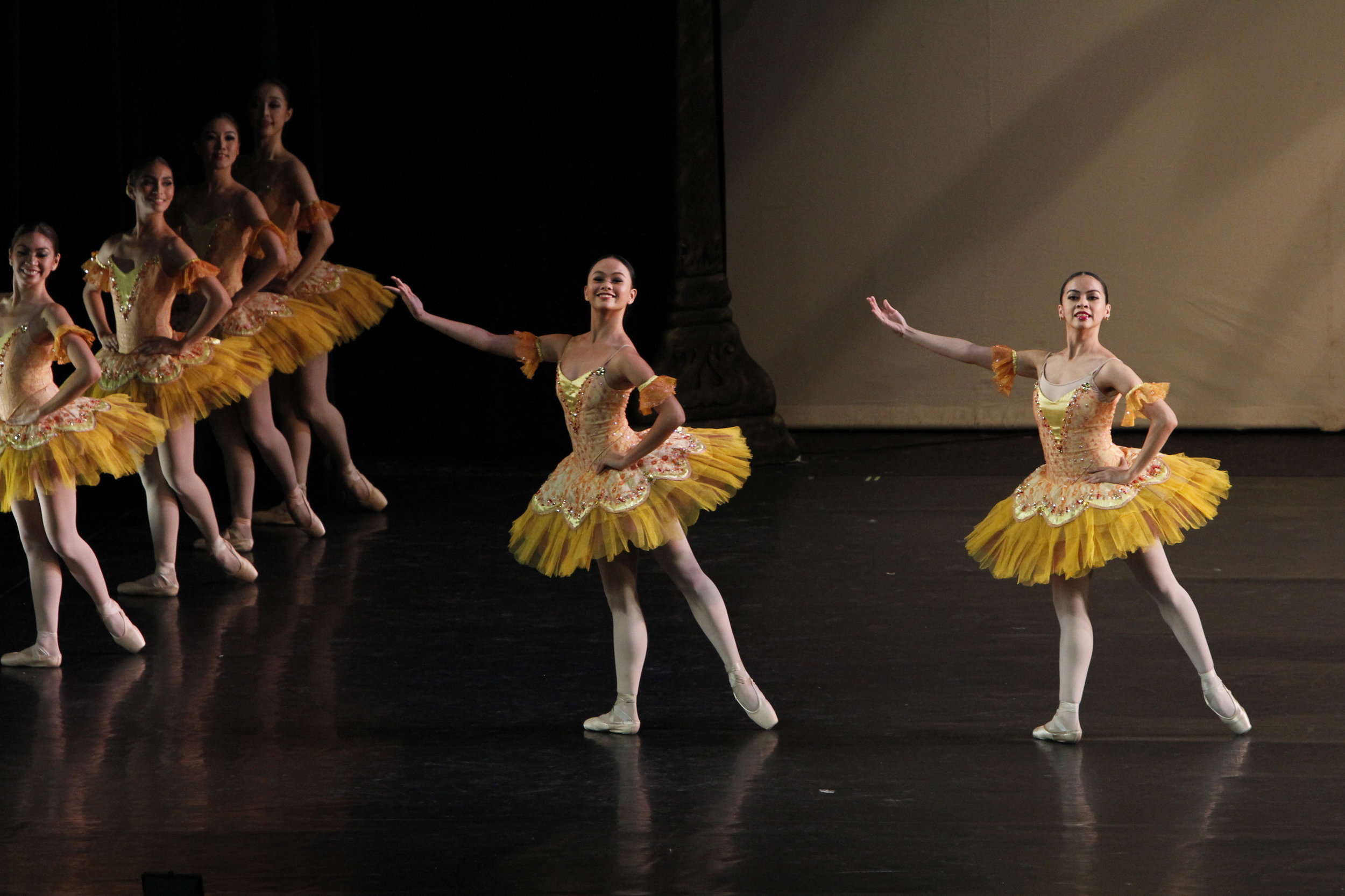 Rissa May (center) was among the dancers featured in    Paquita   , excerpted in    BM 2.0   , Ballet Manila's 20th anniversary show in 2015.