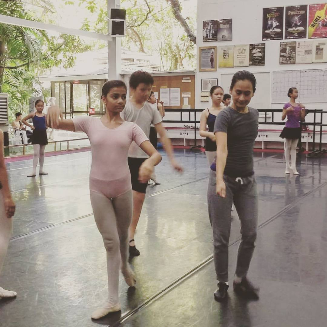 Krisha attends a rehearsal class for    Paquita   , conducted by prima ballerina and BM artistic director Lisa Macuja-Elizalde