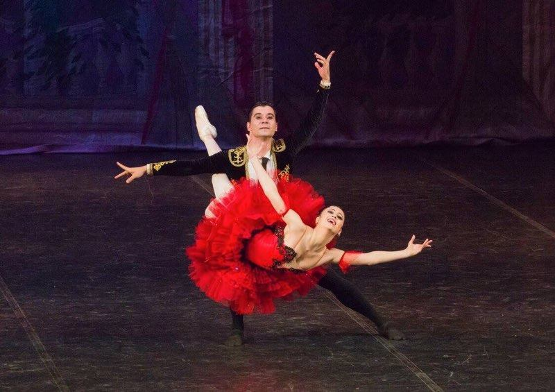 Don Quixote    pas de deux with Misha in Russia. Just a week before, we had danced the full-length    Don Q    with Ballet Manila. Photo from Tatiana Predeina's Facebook Page