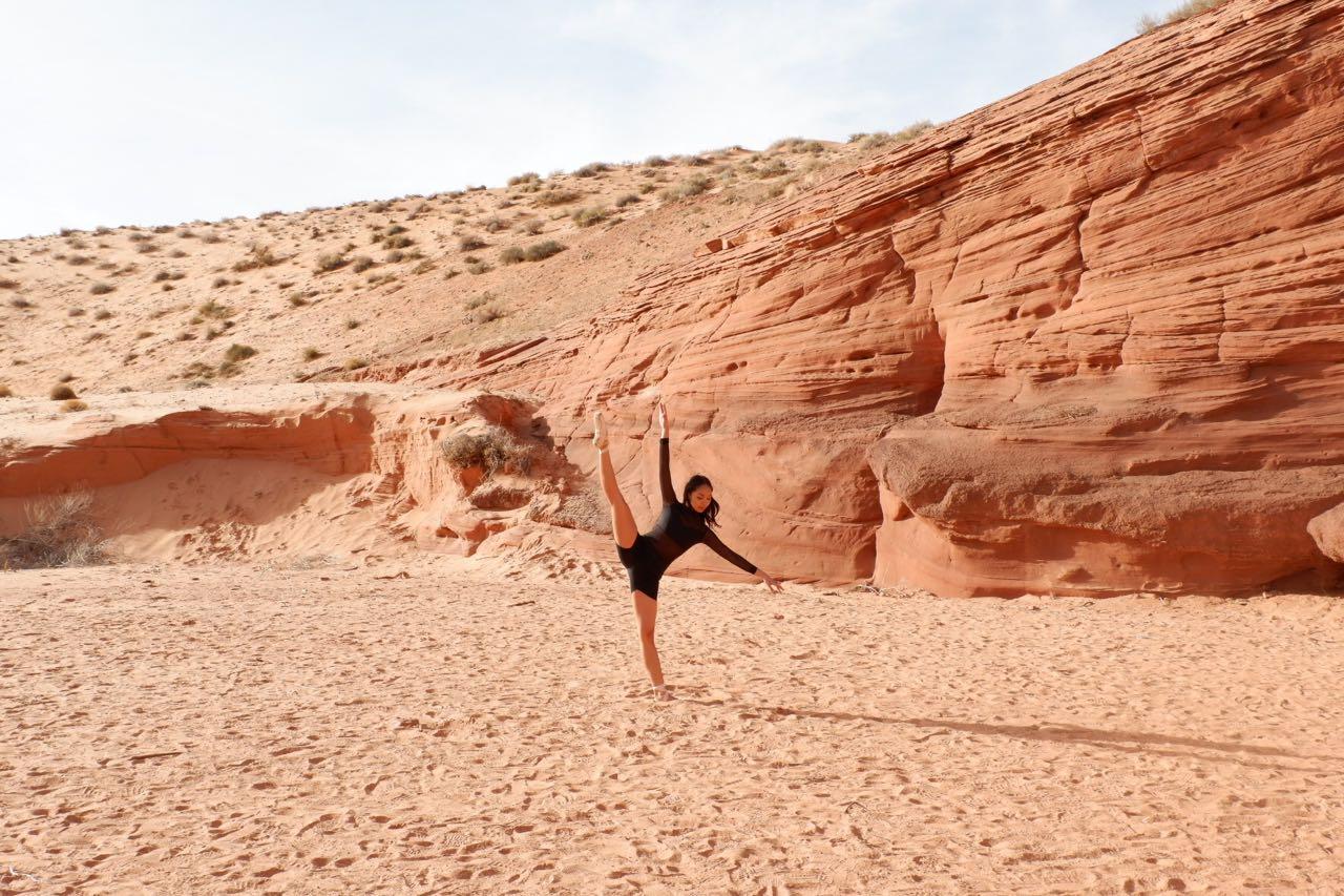 Dancing in the desert!