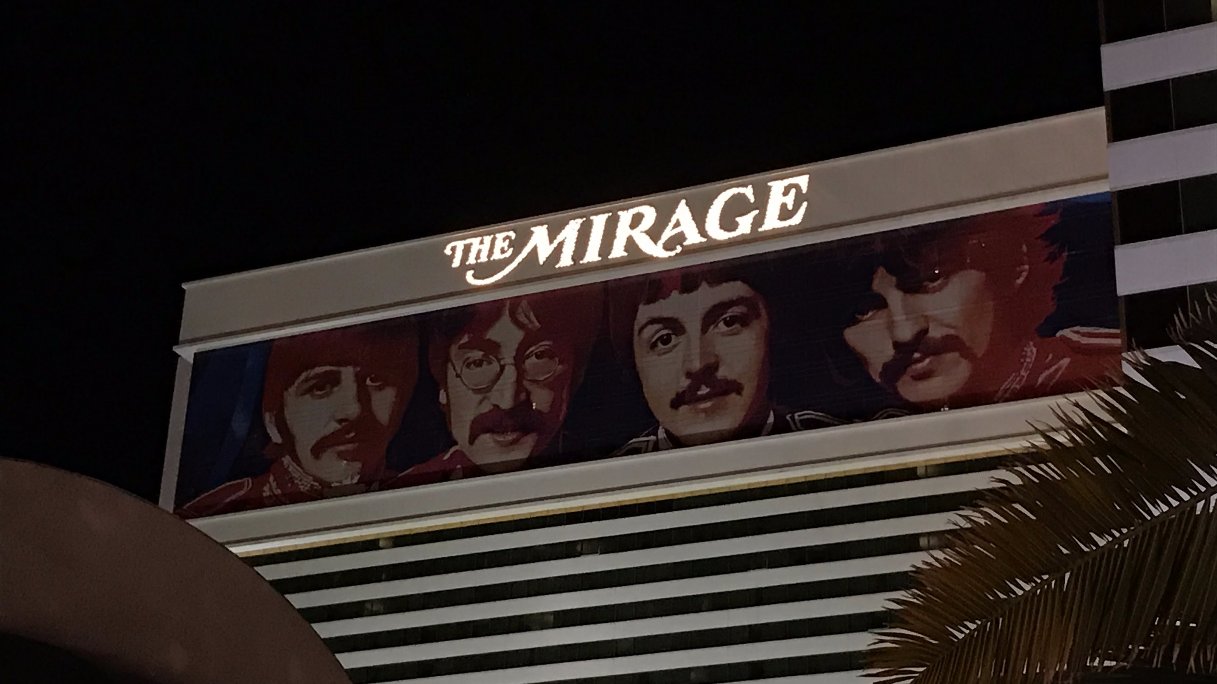 Cirque du Soleil's  LOVE  (The Beatles musical) plays at The Mirage where we stayed but we didn't get to see the show.