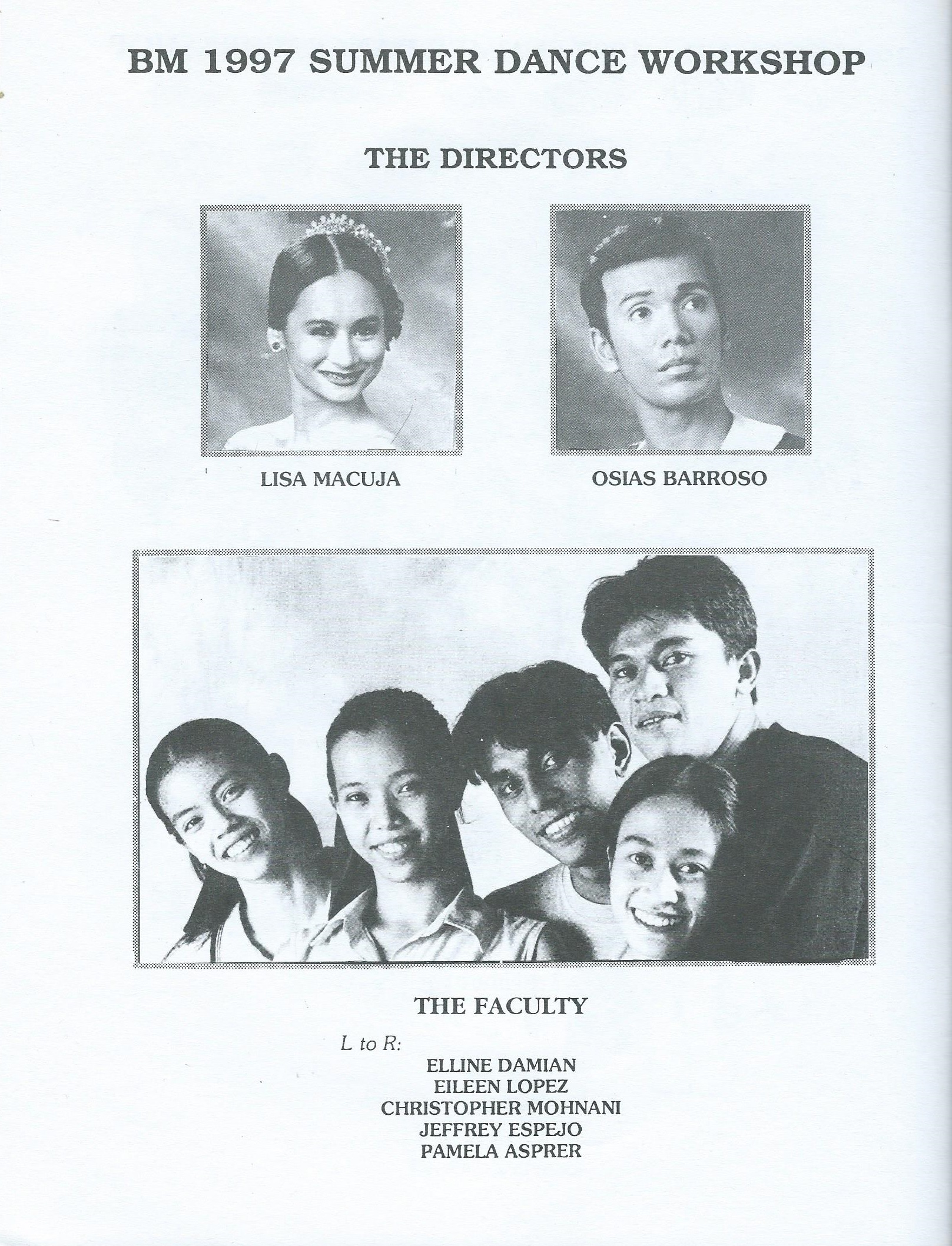 The school's directors and faculty when it officially opened in 1997. Photo courtesy of the Ballet Manila Archives