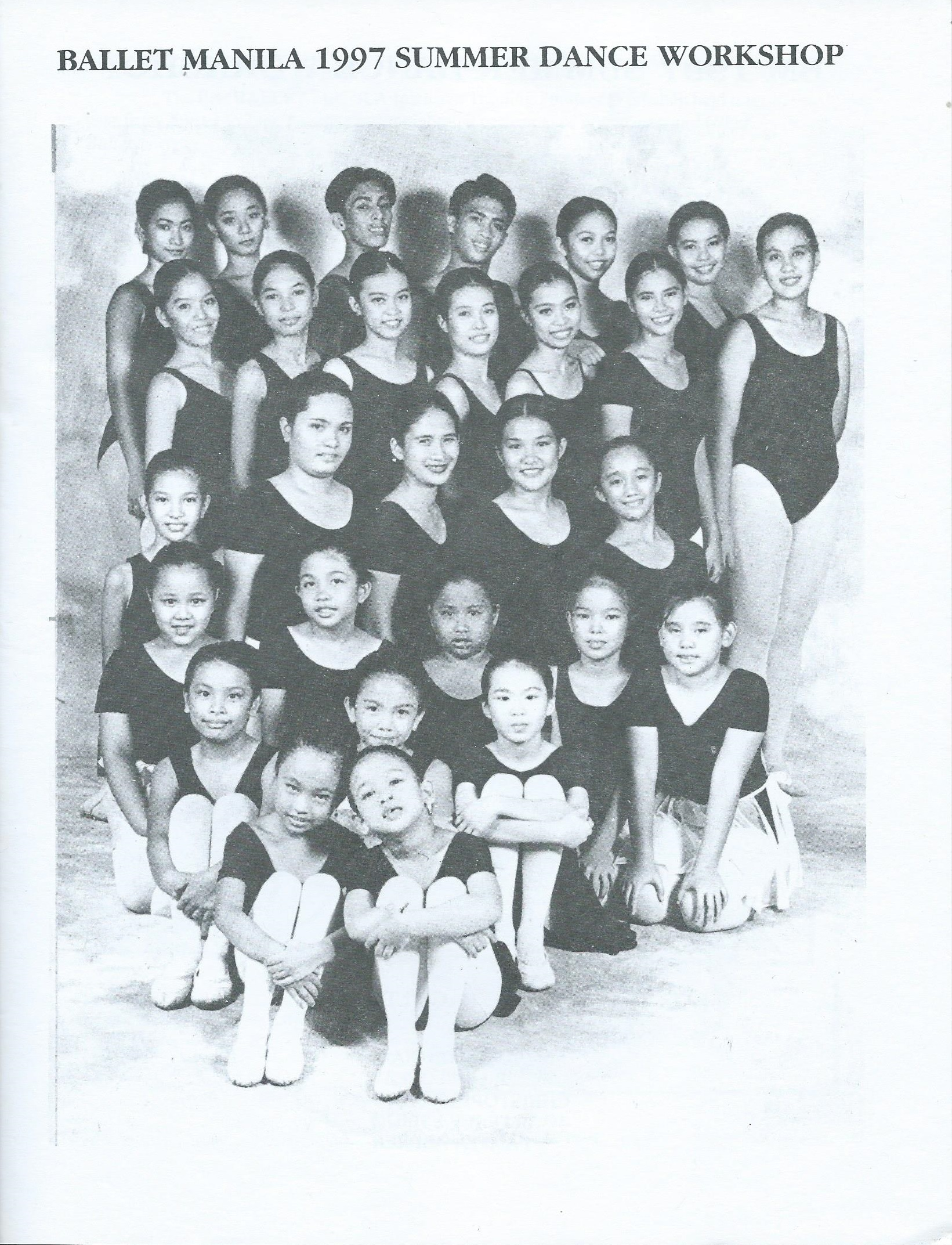 The Ballet Manila School's first batch of summer workshop participants. Photo courtesy of the Ballet Manila Archives