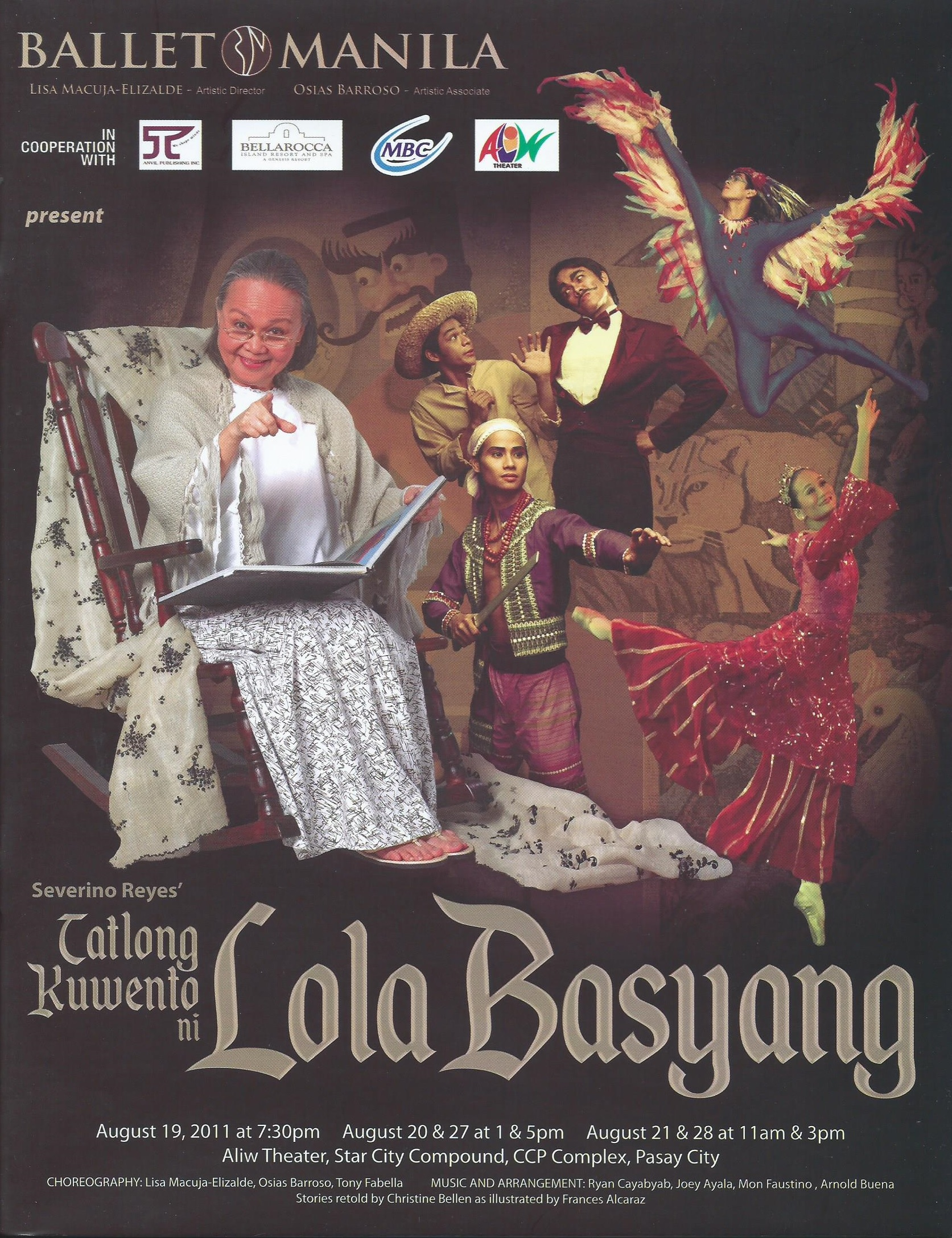 Tatlong Kuwento ni Lola Basyang   , which featured    Ang Prinsipe ng mga Ibon    as one of three stories, had its world premiere in 2008.