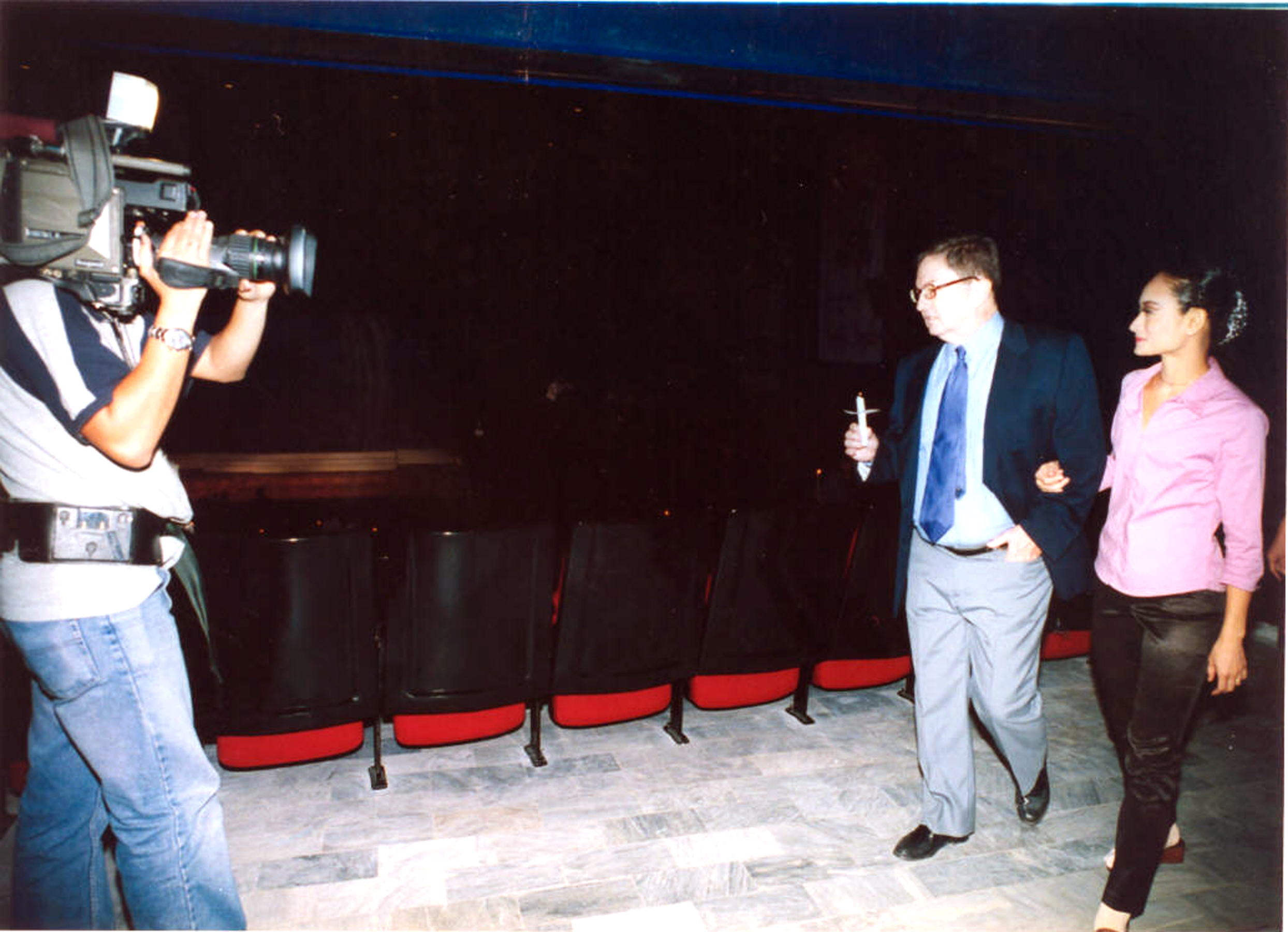 Fred and Lisa lead the inauguration of Star Theater in 2001.