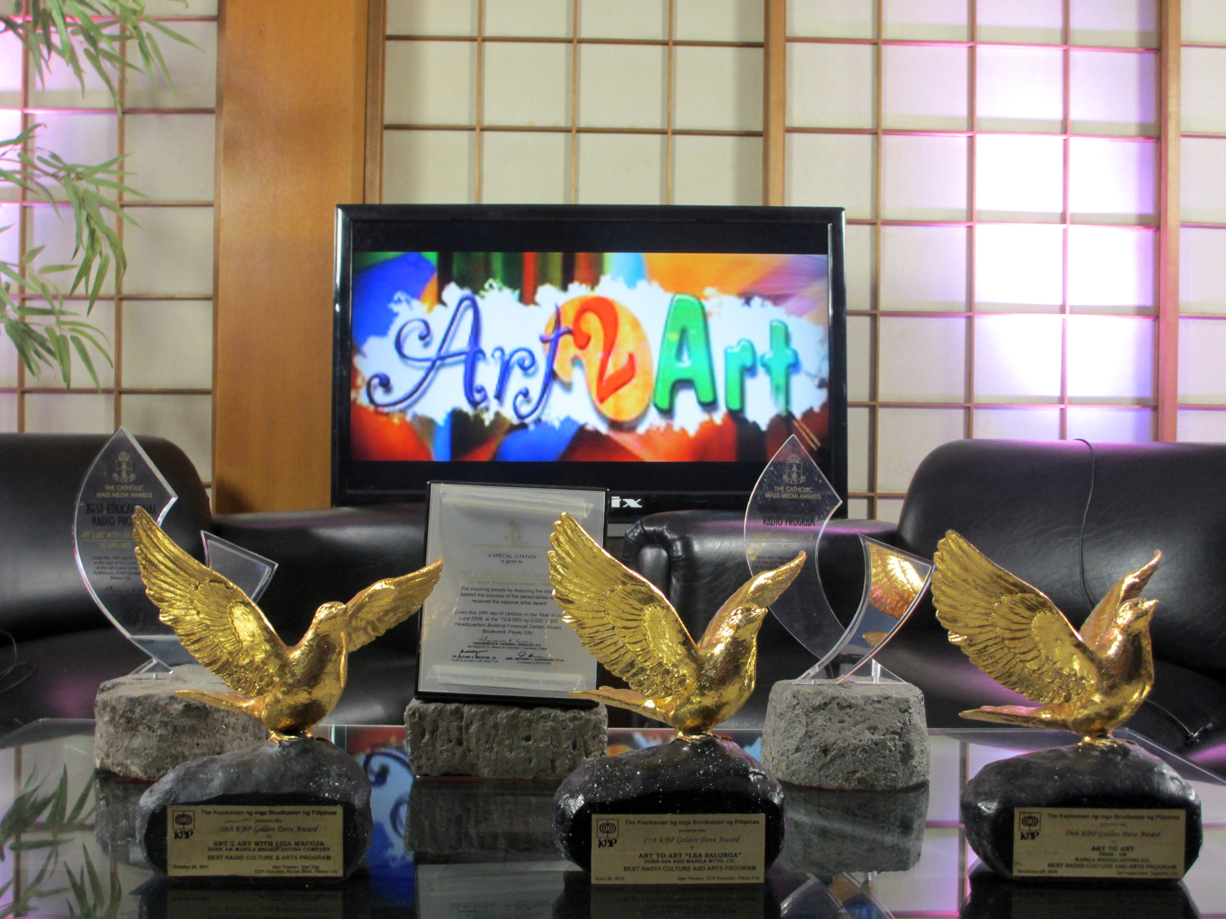 Since its initial broadcast in 2007,  Art 2 Art  has won several awards for its art advocacy.