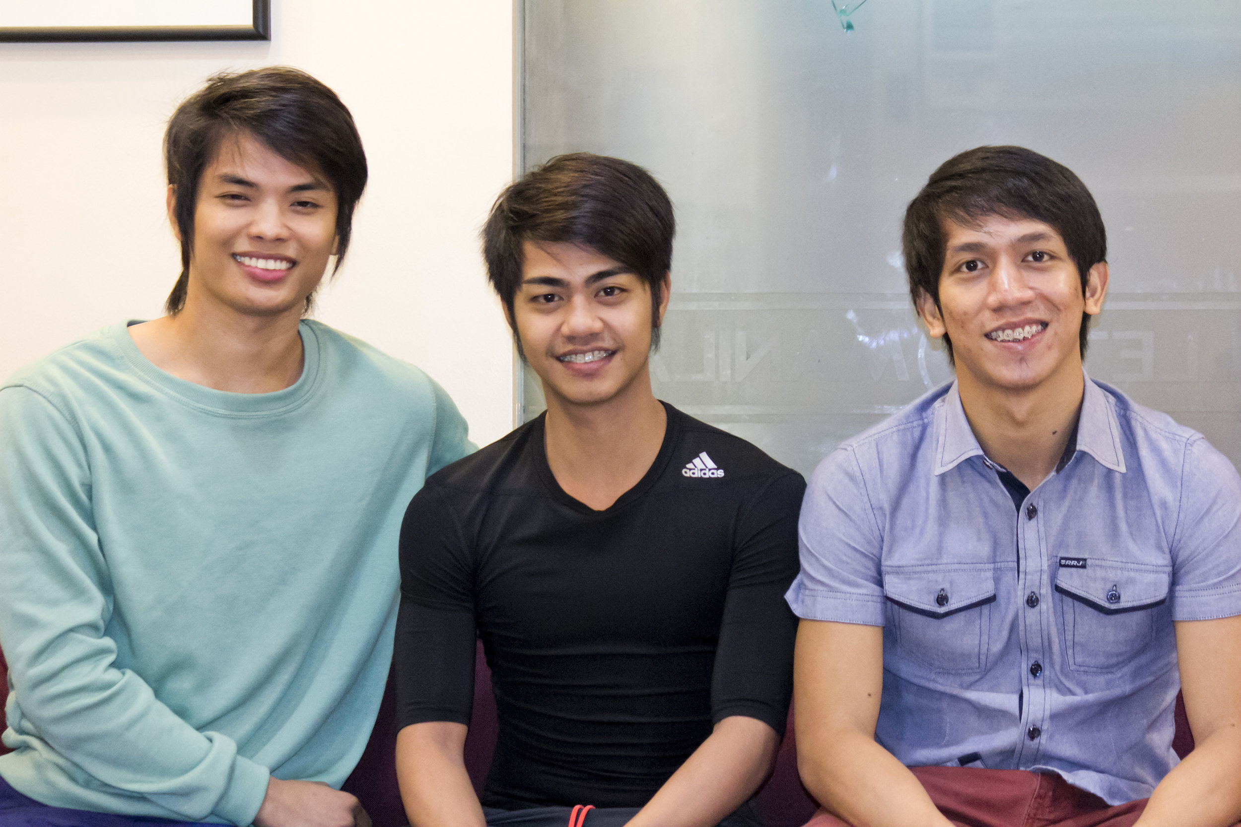 """Admittedly more serious than his peers, he exerts his influence over his younger """"brothers"""" – Anselmo Dictado and Rudolph Capongcol – in Ballet Manila's upcoming production of  Ibong Adarna.  Photo by Jimmy Villanueva"""