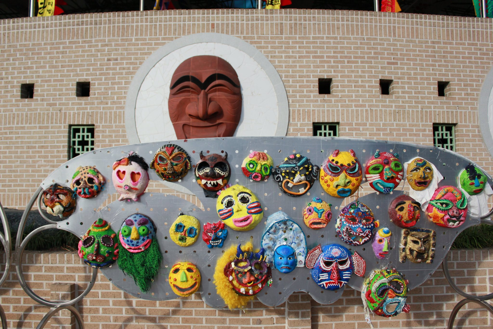 Masks of varying sizes, colors and shapes are a familiar sight at the festival. Photo courtesy of Gerardo Francisco