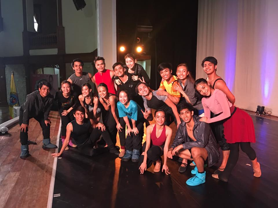 "Choreographer Gerardo ""Geri"" Francisco (left) with the 16 Ballet Manila dancers who will perform in the APEC closing program. Photo by Lisa Macuja-Elizalde"