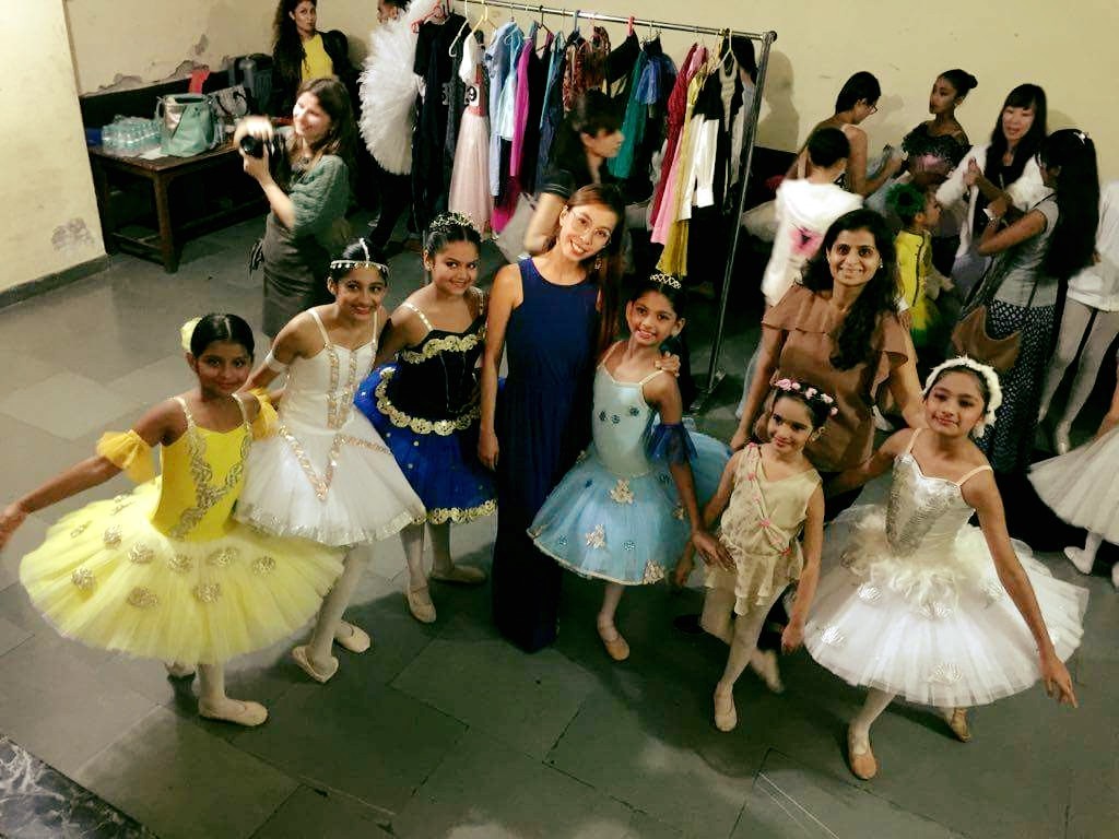 Ballet Manila's Czarina Villegas coached six students from Rhythmus Happyfeet who competed in the    Mosaic of Dance    competition in Delhi last October Dhvani Patel (leftmost) won first place in her category. Photo courtesy of Czarina Villegas' Facebook page