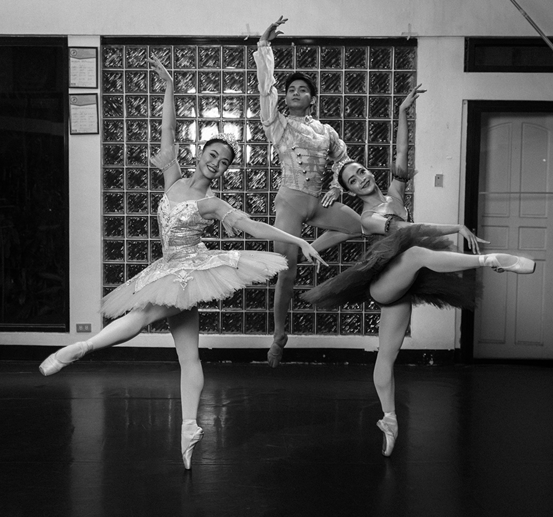 Jessa Balote, Jamil Montibon and Rissa May Camaclang started out as Project Ballet Futures scholars and are now BM company artists. Photo by G-nie Arambulo