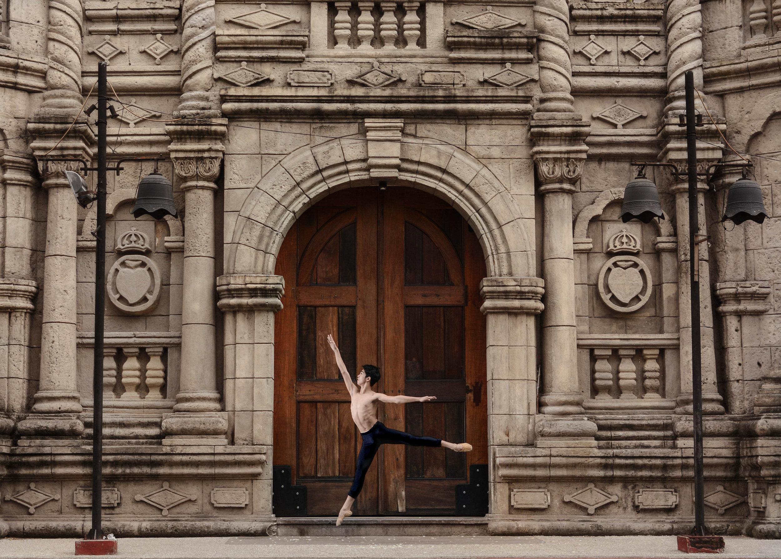 Ballet Dictionary - Temps Levé in First Arabesque - Ballet Manila Archives.jpg