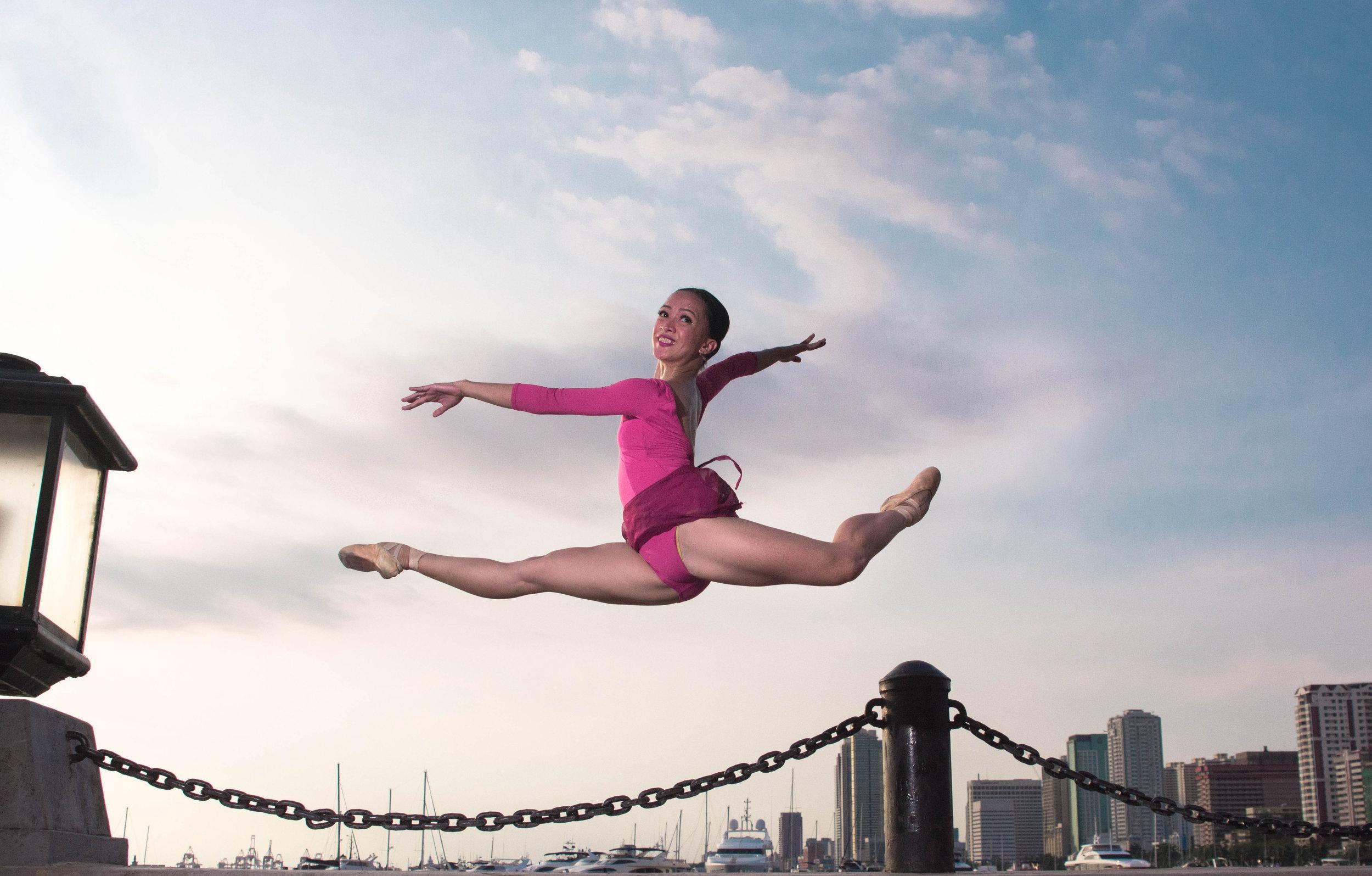 Ballet Dictionary - Grand Pas de Chat in Attitude Derrière - Ballet Manila Archives.jpg