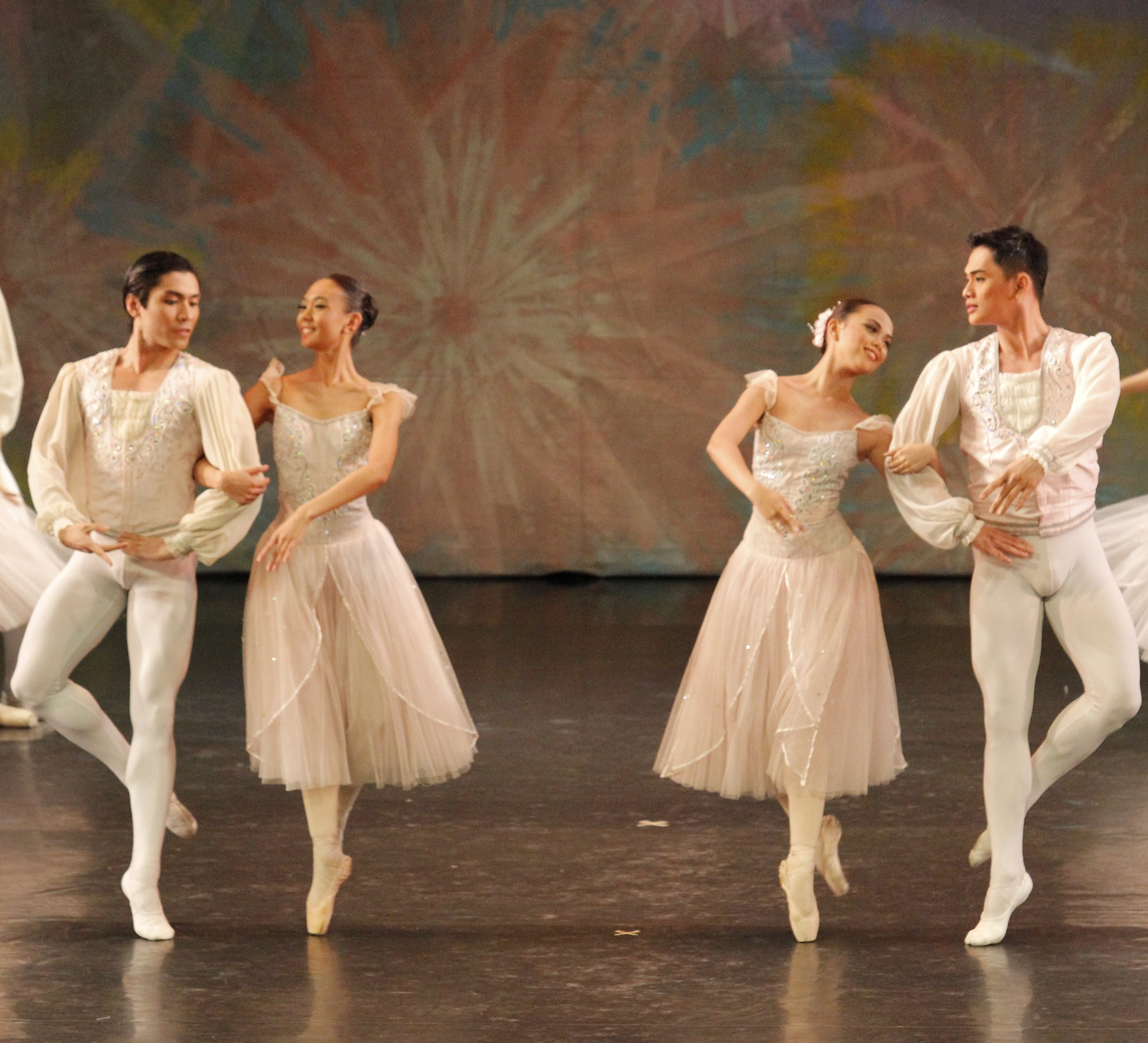 Henriette (seen here second from left in 2016's    The Swan, The Fairy and The Princess   ) says Ballet Manila has taught her to be more confident. Photo by Kurt Alvarez