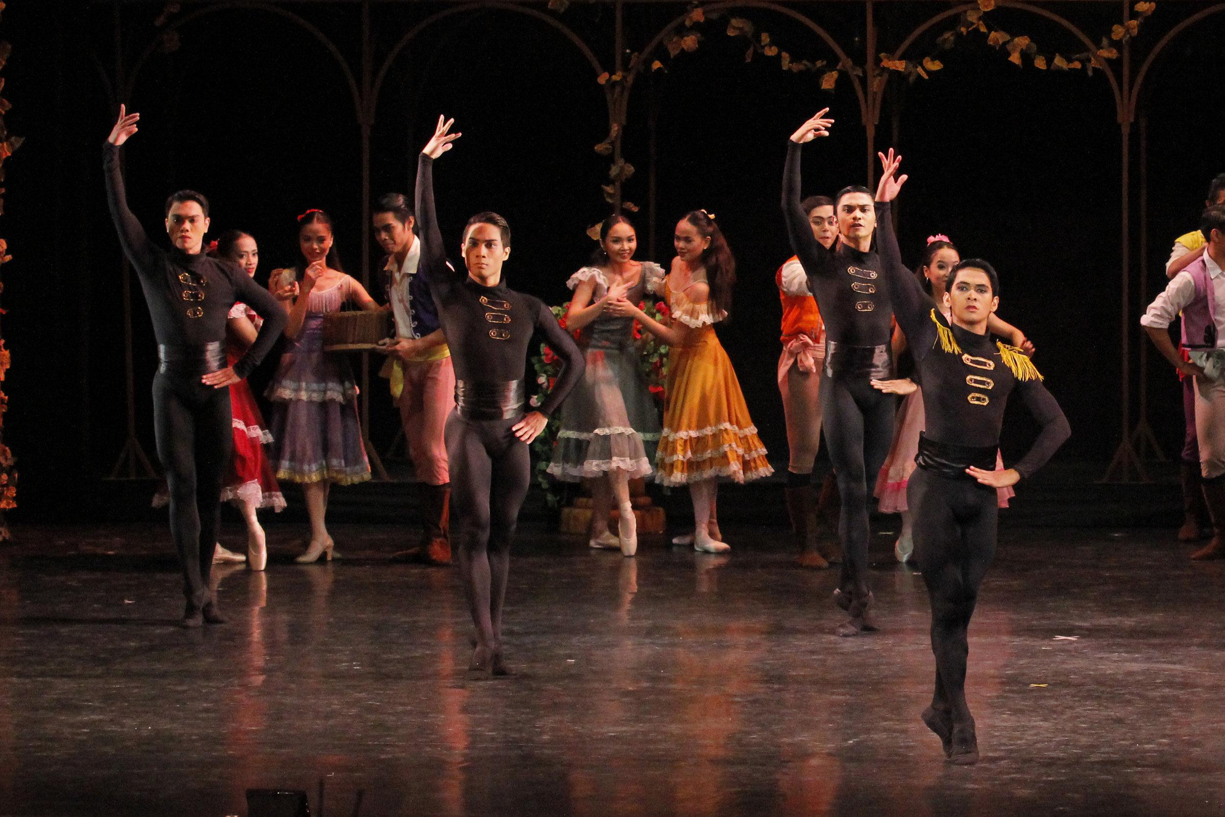 John (second from left) performs in    Carmen   , featured in Ballet Manila's season ender in 2016. Photo by Kurt Alvarez