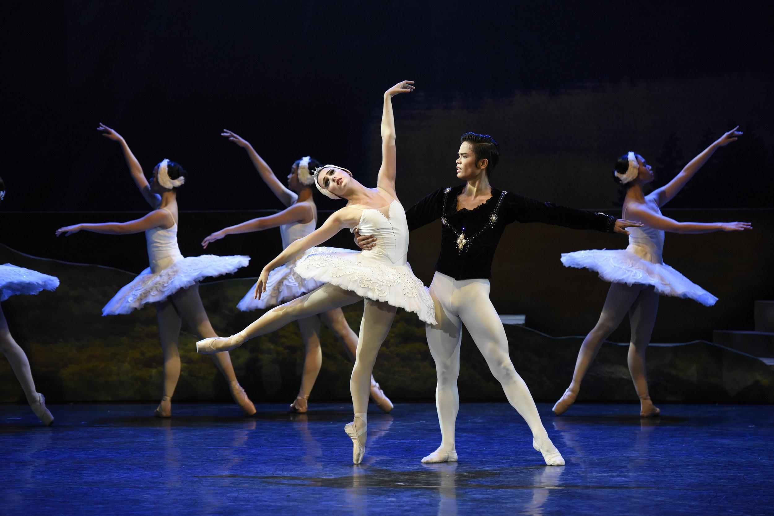 Paired with Katherine Barkman as Odette in    Swan Lake    (2017), Elpidio Magat dances as Prince Siegfried. Photo by Ocs Alvarez