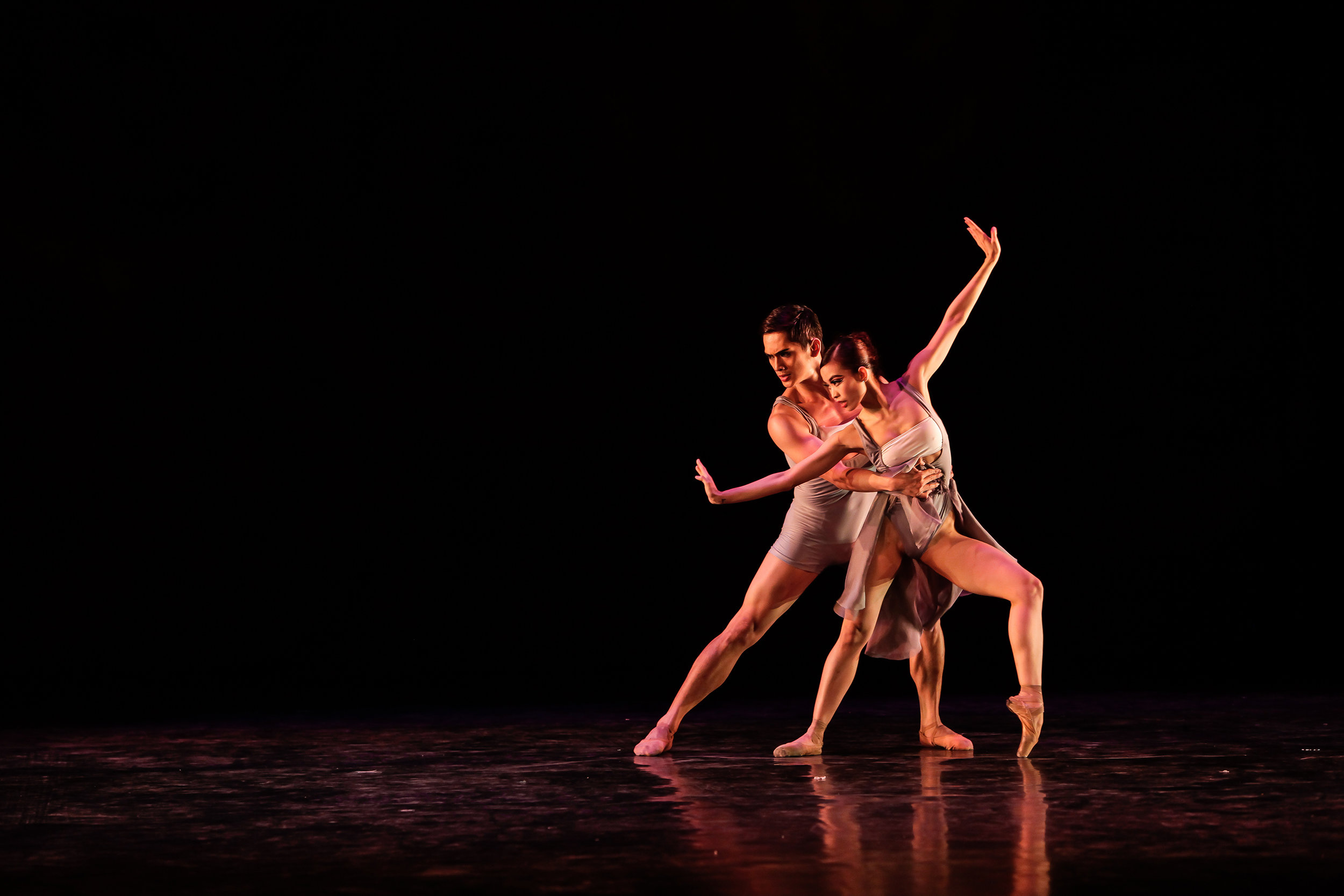 MAZN    is a contemporary choreography by Bam Damian that has become like a signature piece for Joan Sia and Alfren Salgado. Photo by Jojo Mamangun