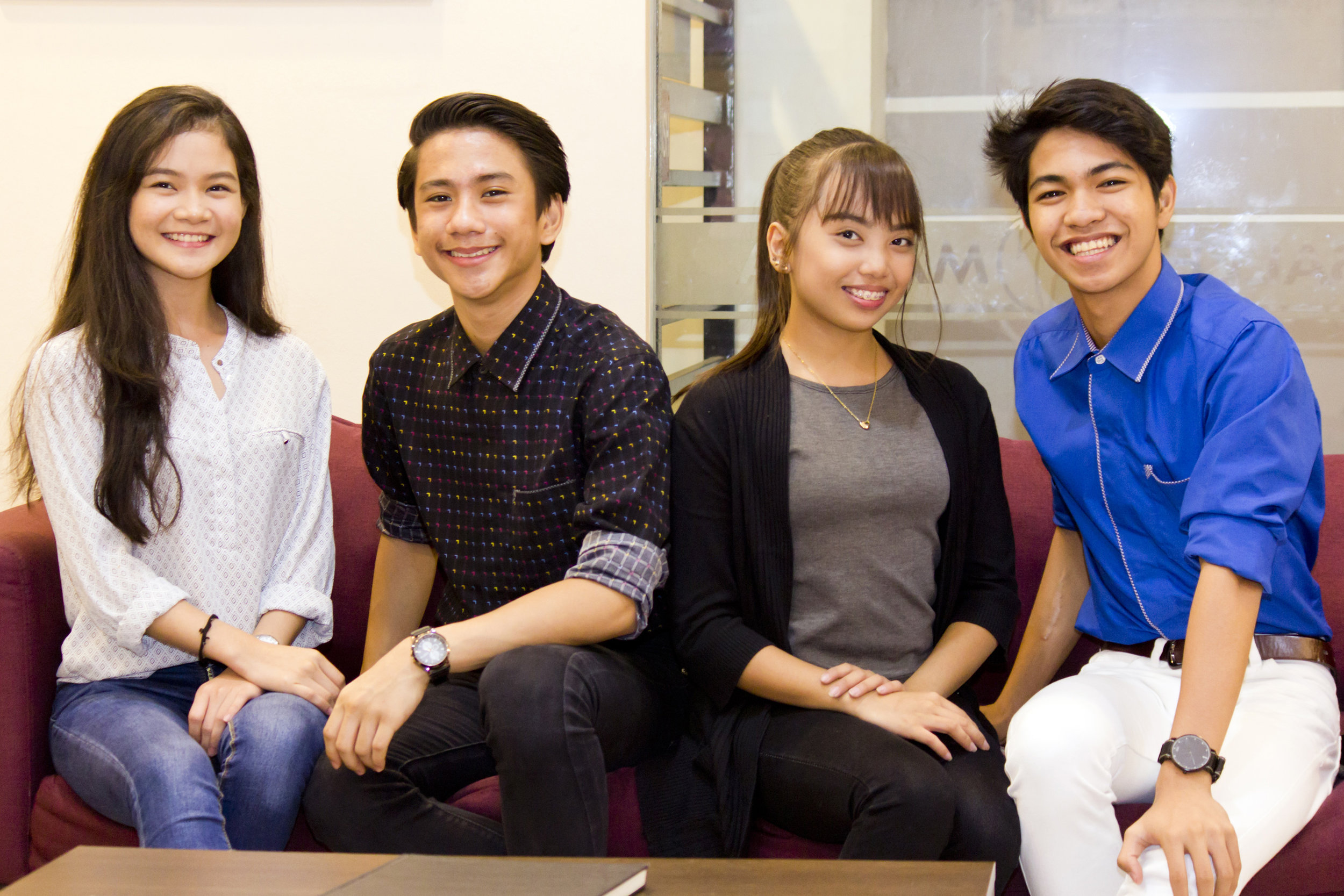 Shaira, Brian, Lyssa and Alvin get to share their stories of competing in Bangkok in a group interview. Photo by Jimmy Villanueva