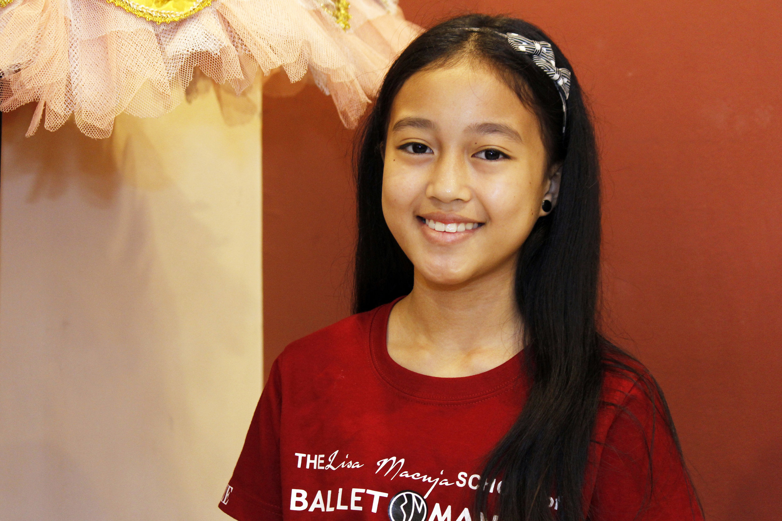 As a PBF scholar, Gian receives free ballet instruction and ballet gear, meals, nutrition supplements and transportation allowance. The budding ballerina dreams of dancing as the    Ibong Adarna    someday. Photo by Jimmy Villanueva