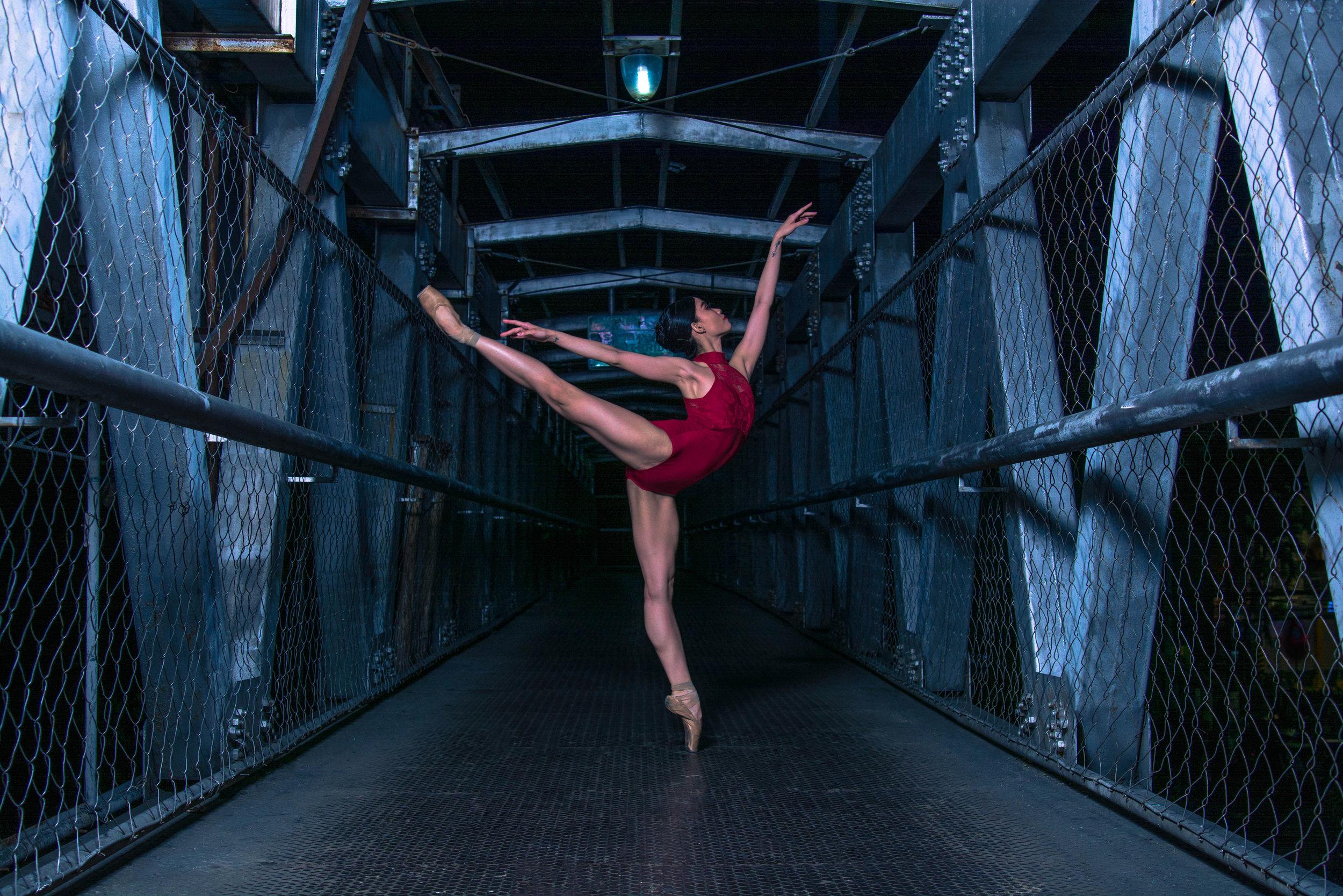 Ballet Dictionary -  Piqué in First Arabesque - Ballet Manila Archives.jpg