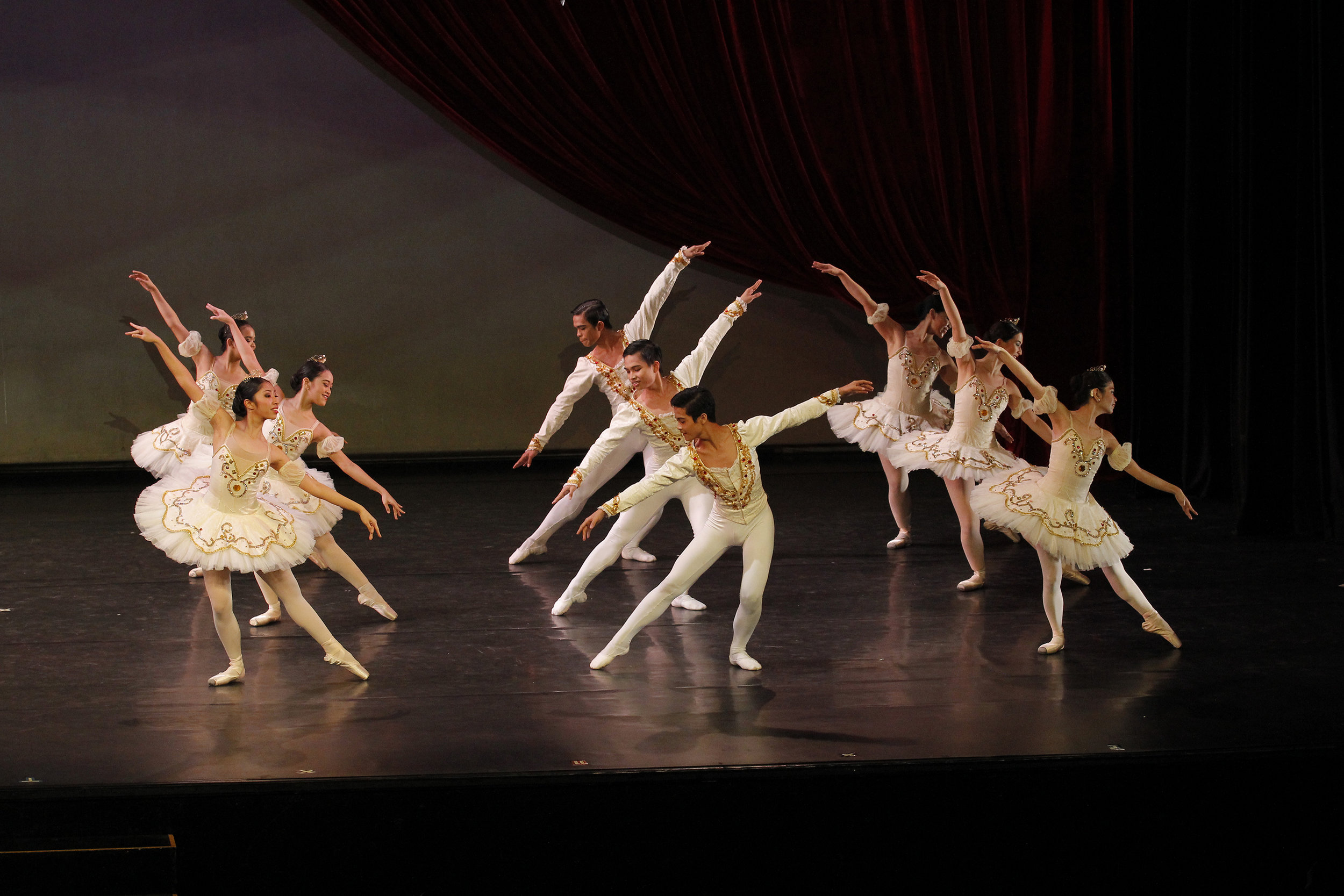 Paeng (seen here performing here in Must Dance 2017, front and center) dreams of someday dancing as Prince Desiré in the full-length  The Sleeping Beauty . Photo by Ocs Alvarez