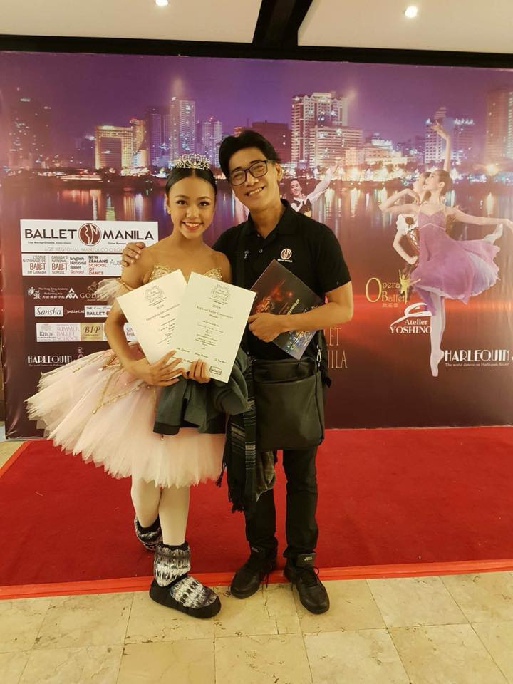 """BM co-artistic director Osias Barroso says """"Gaile danced to perfection"""" at the recent AGP Regionals where she won first place in the Pre-Competitive 3 Division. Photo courtesy of Loraine Gaile Jarlega"""