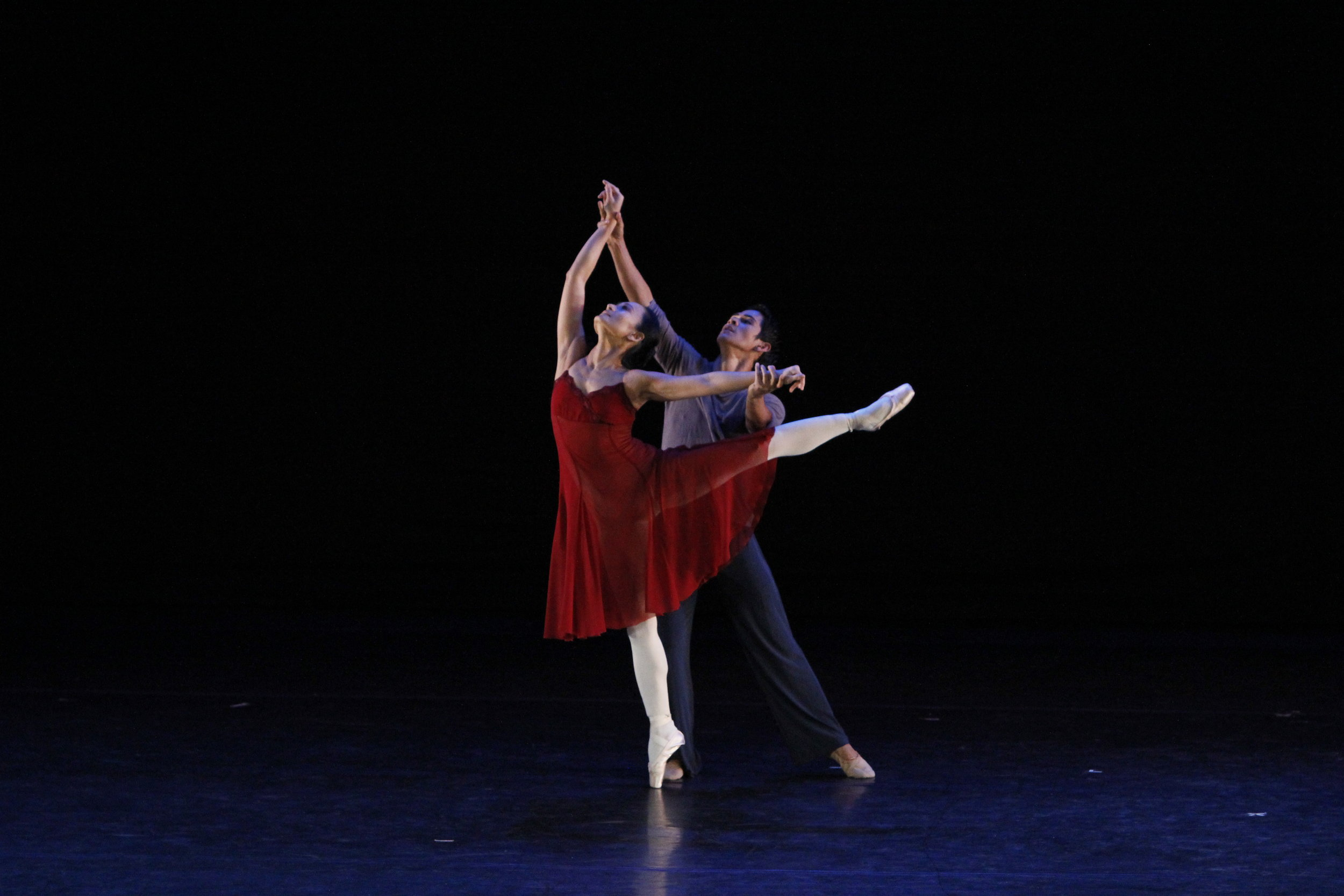"""Lisa Macuja-Elizalde and Rudy de Dios are featured in the haunting choreography, The Last Poem, by Augustus """"Bam"""" Damian. Photo by Ocs Alvarez"""