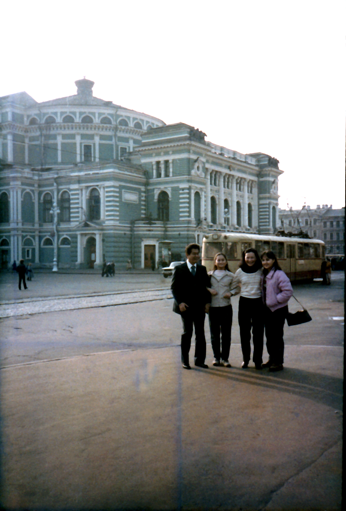 Posing in front of the Hermitage Museum was one of the many bonding moments that the Macuja family shared during Lisa Macuja's four-year stay in Russia, from 1982 to 1986. Those precious visits helped Lisa cope with her homesickness, doubts and fears. Photo from the Ballet Manila Archives collection