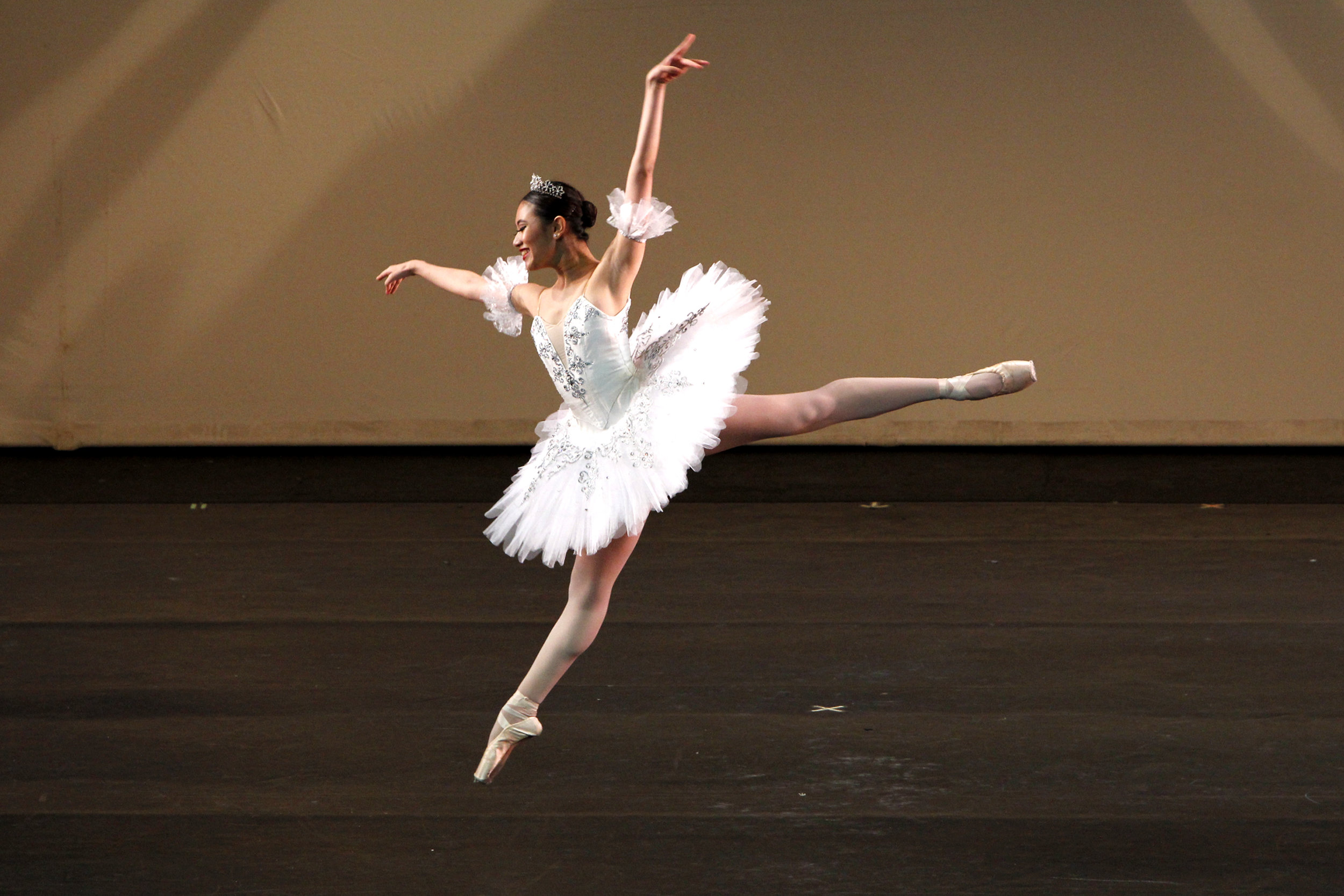Receiving more pairs of pointe shoes is a perk Abi – seen here in    Paquita    – is most excited about. Photo by Ocs Alvarez