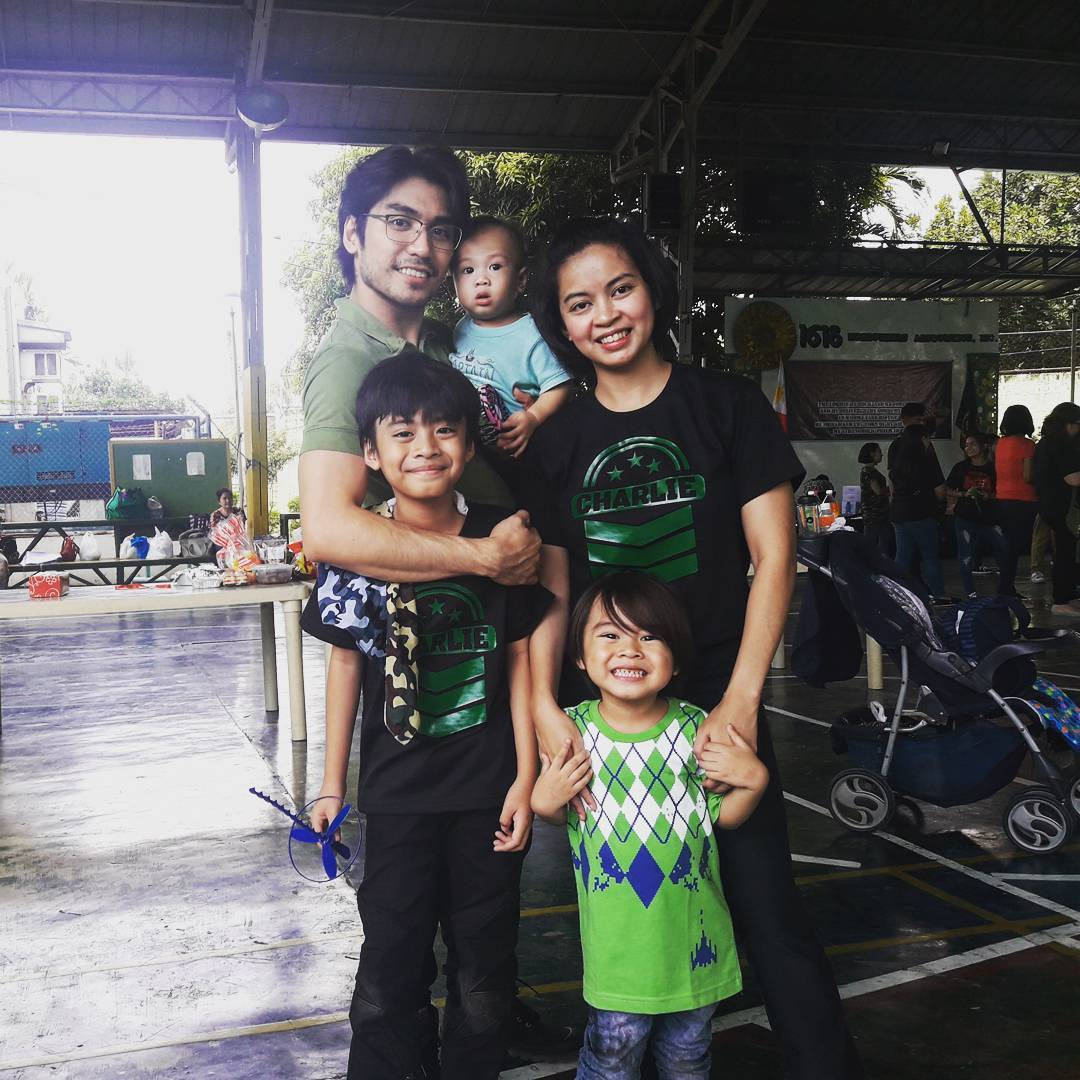 """""""Fatherhood is the hardest role I've ever stepped into,"""" say Romeo, on a day out with his three sons and wife Sofia Sangco-Peralta."""