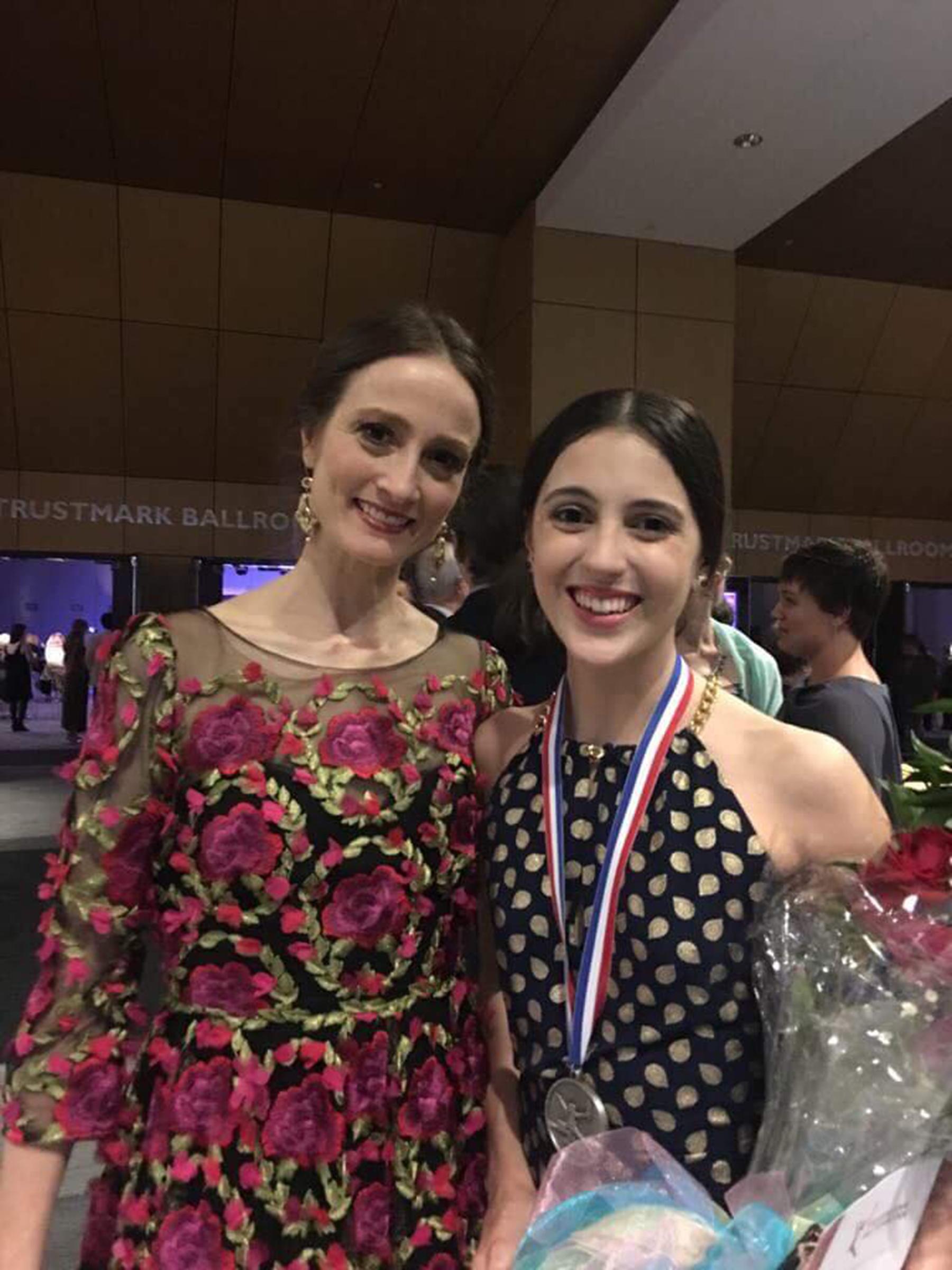 For Katherine, one of the highs of joining competitions is meeting her idols, including Washington Ballet artistic director Julie Kent who congratulated her in Jackson.