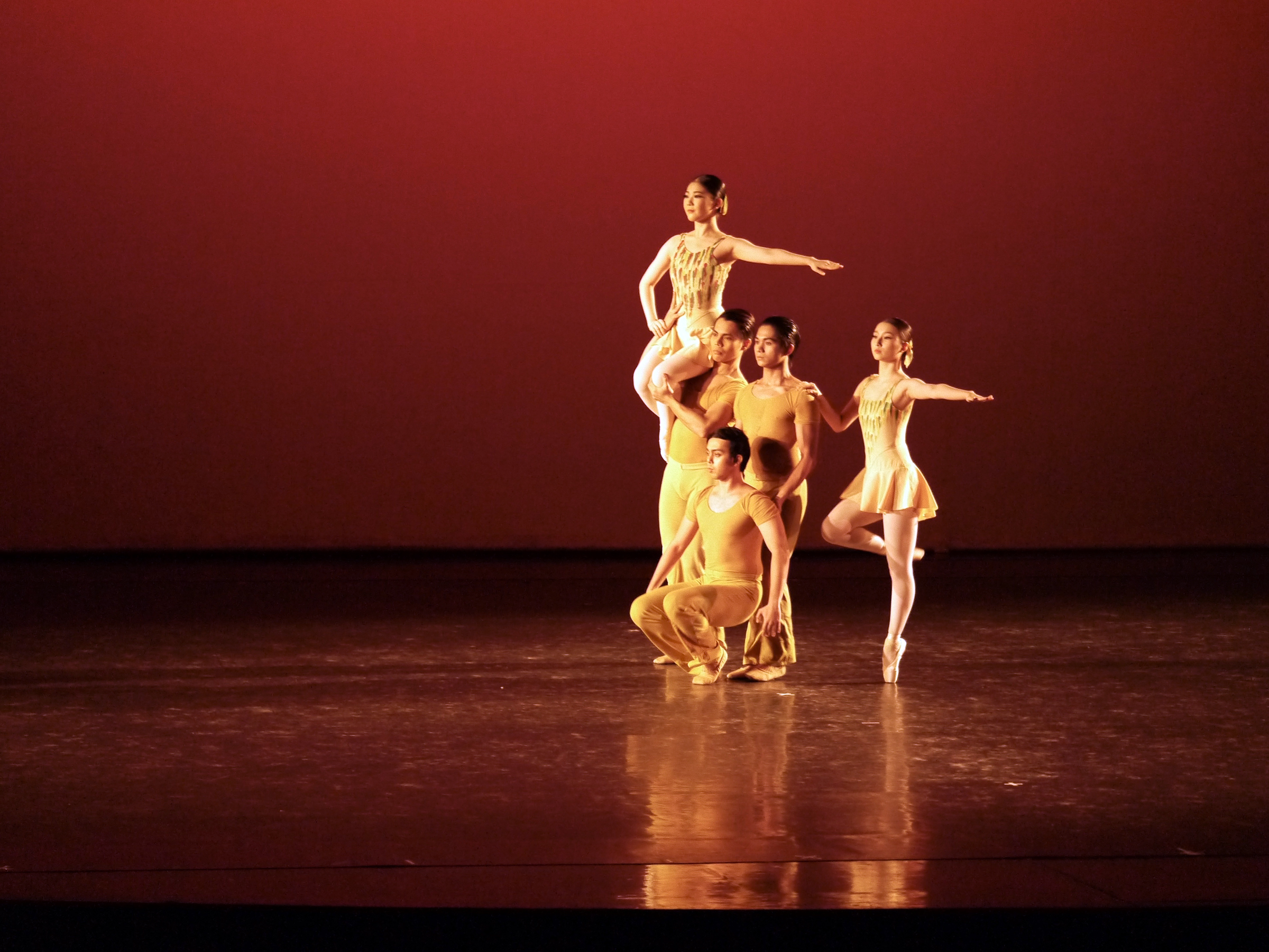 Sean (foreground) in Hazel Sabas-Gower's    Deconstructing Gershwin   , a piece featured in    American Stars of Ballet   . Photo by Giselle P. Kasilag