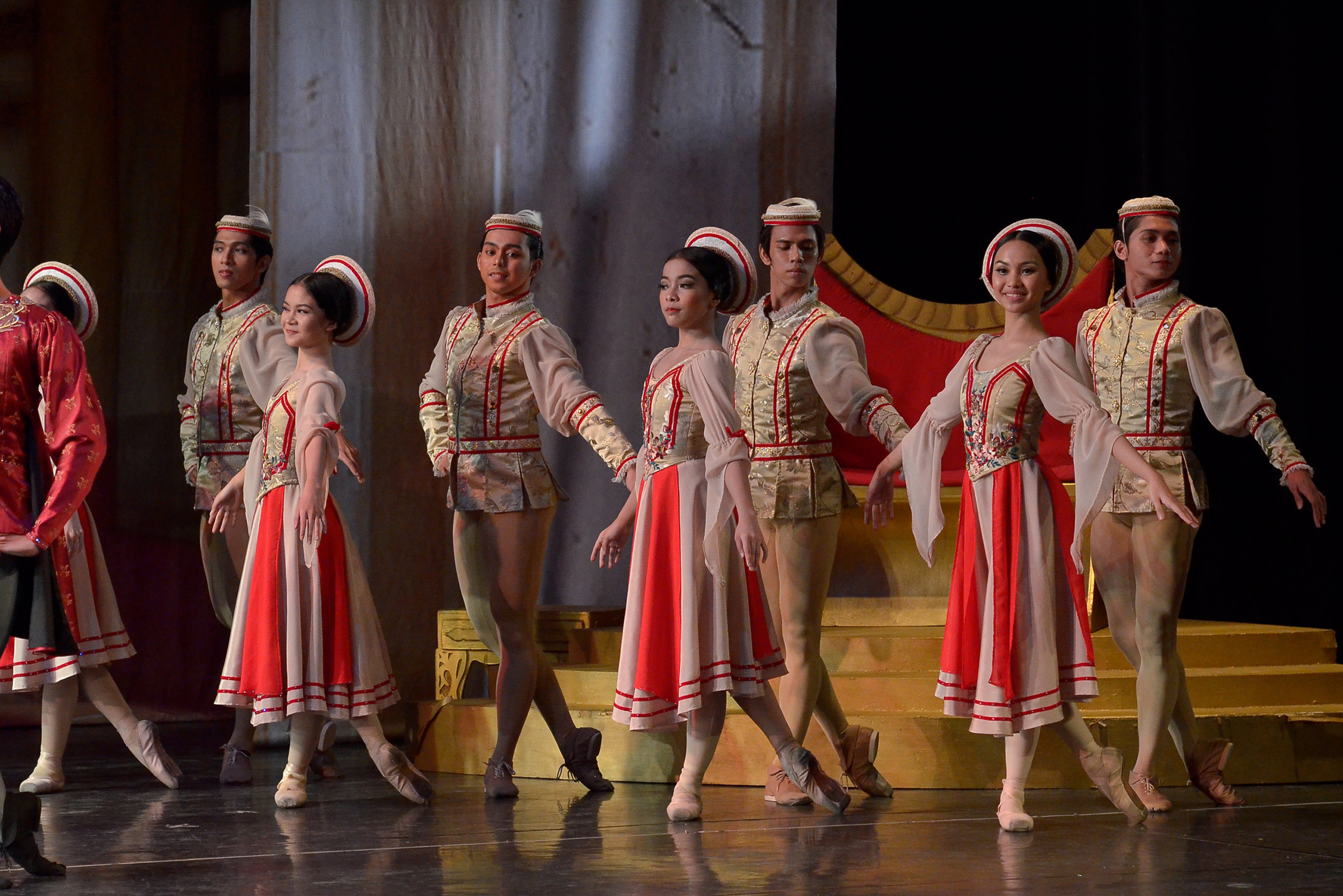 Sean (third from left) in another scene from the ballet classic    Swan Lake   . Photo by Ocs Alvarez