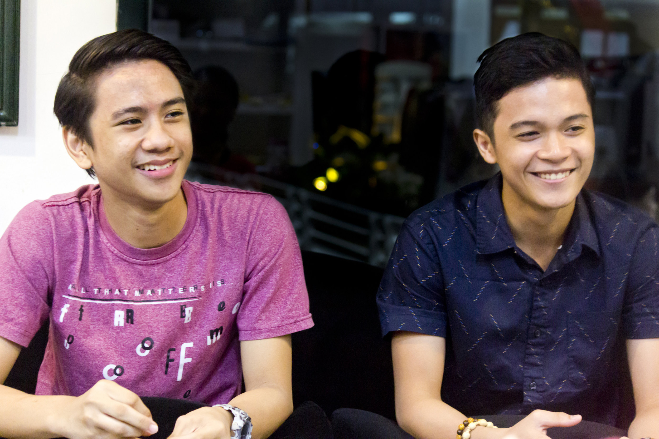 Brian Sevilla and Rafael Perez agree that competitions test not just a dancer's physical skills but also his mental game. Photo by Jimmy Villanueva