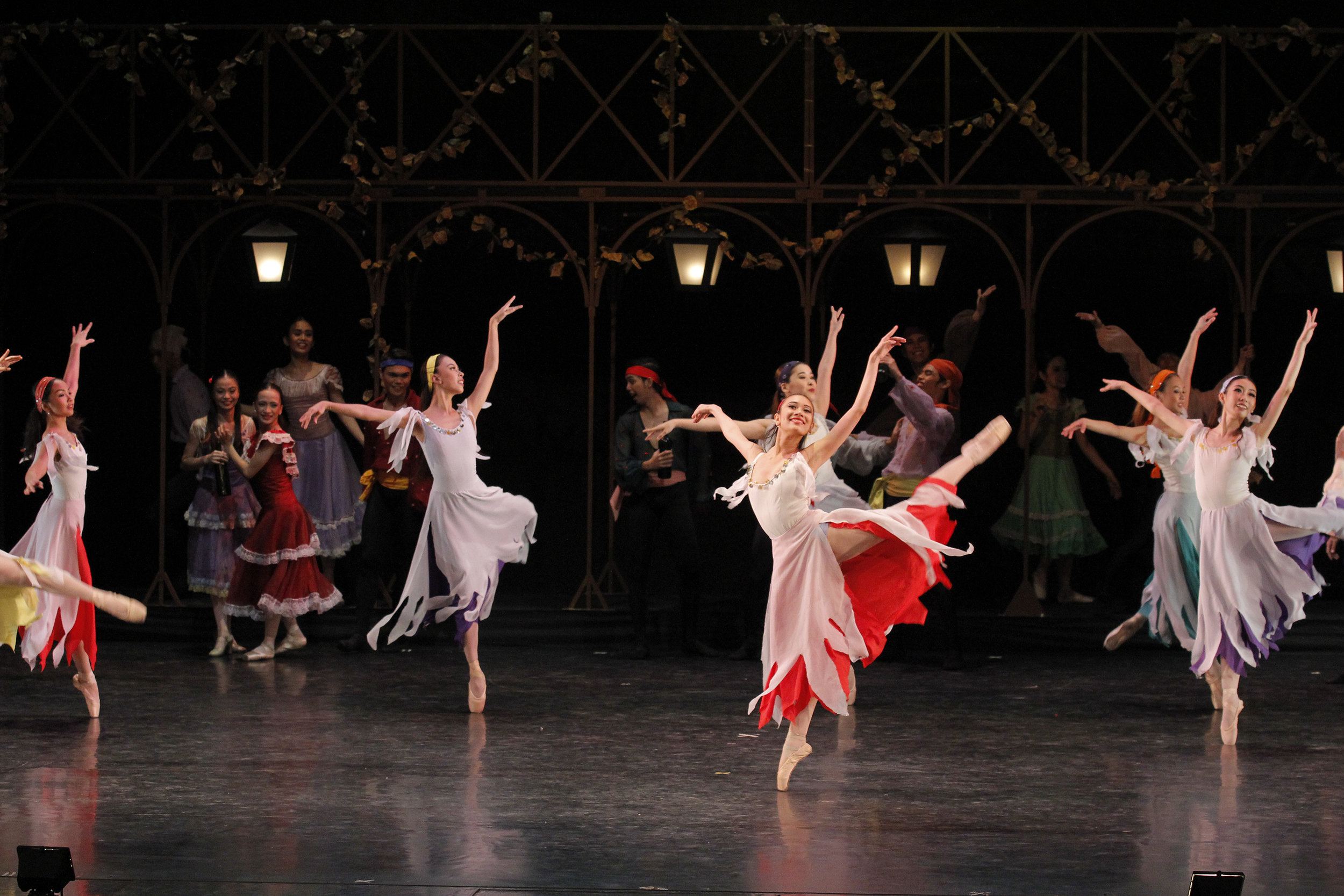 Abi (center) dances as one of the townsfolk in the  Carmen  which was featured in  BM 21  in 2016. Photo by Kurt Alvarez