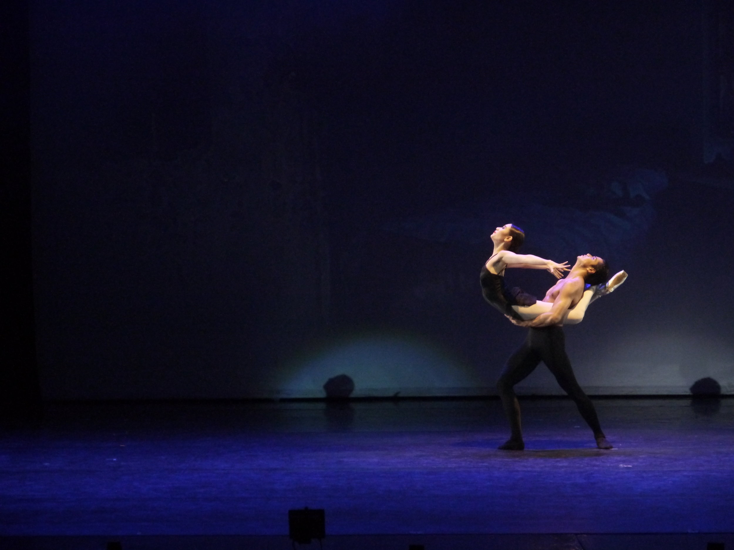"""""""It doesn't just look intense, it feels intense,"""" describes Abi of the ballet where she's paired opposite soloist Mark Sumaylo. Photo by Giselle P. Kasilag."""