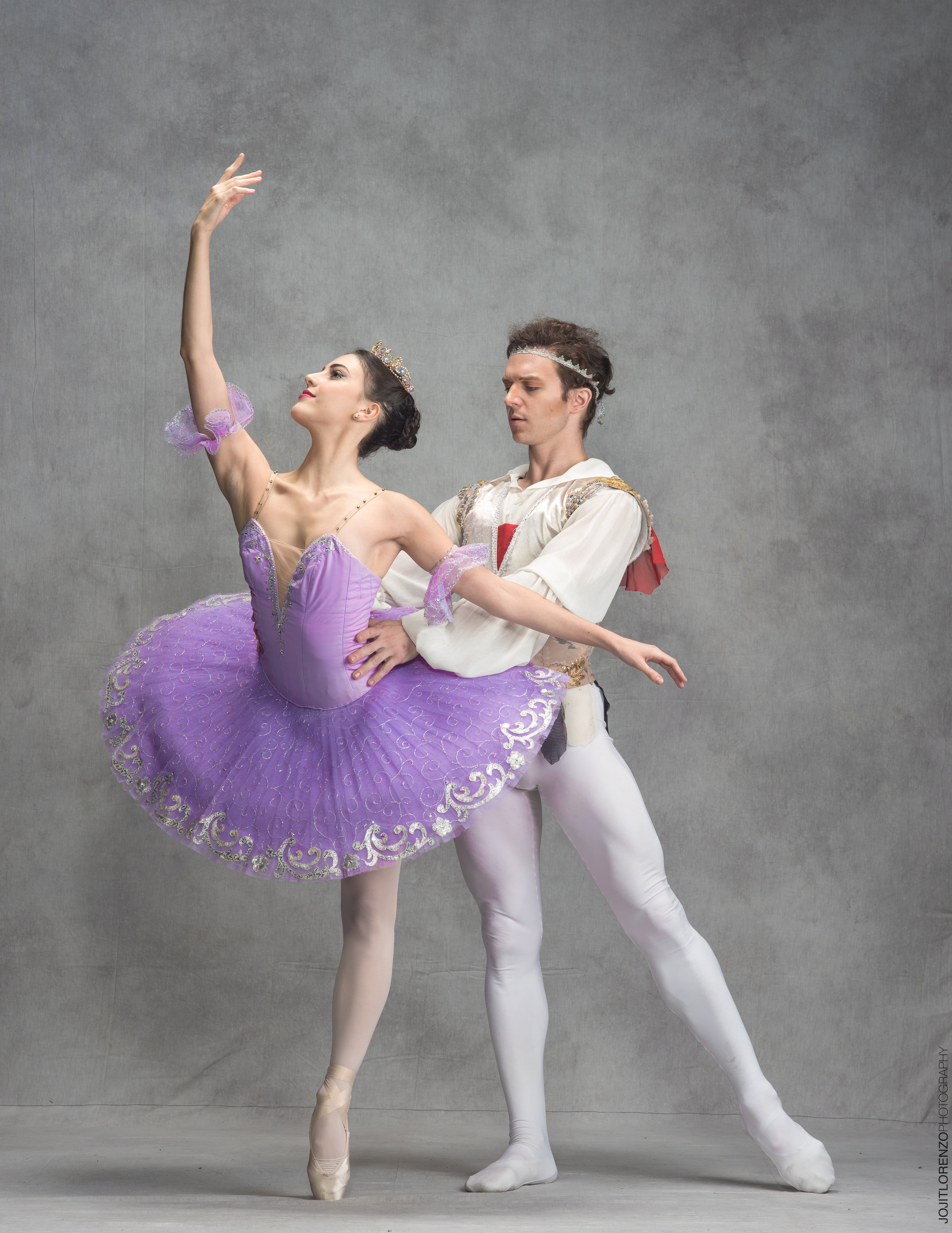 Ballet Manila resident guest principals Katherine Barkman and Joseph Phillips take on the lead roles in the full-length  Le Corsaire , with the former debuting as Medora and the latter dancing as the pirate Conrad. Photo by Jojit Lorenzo