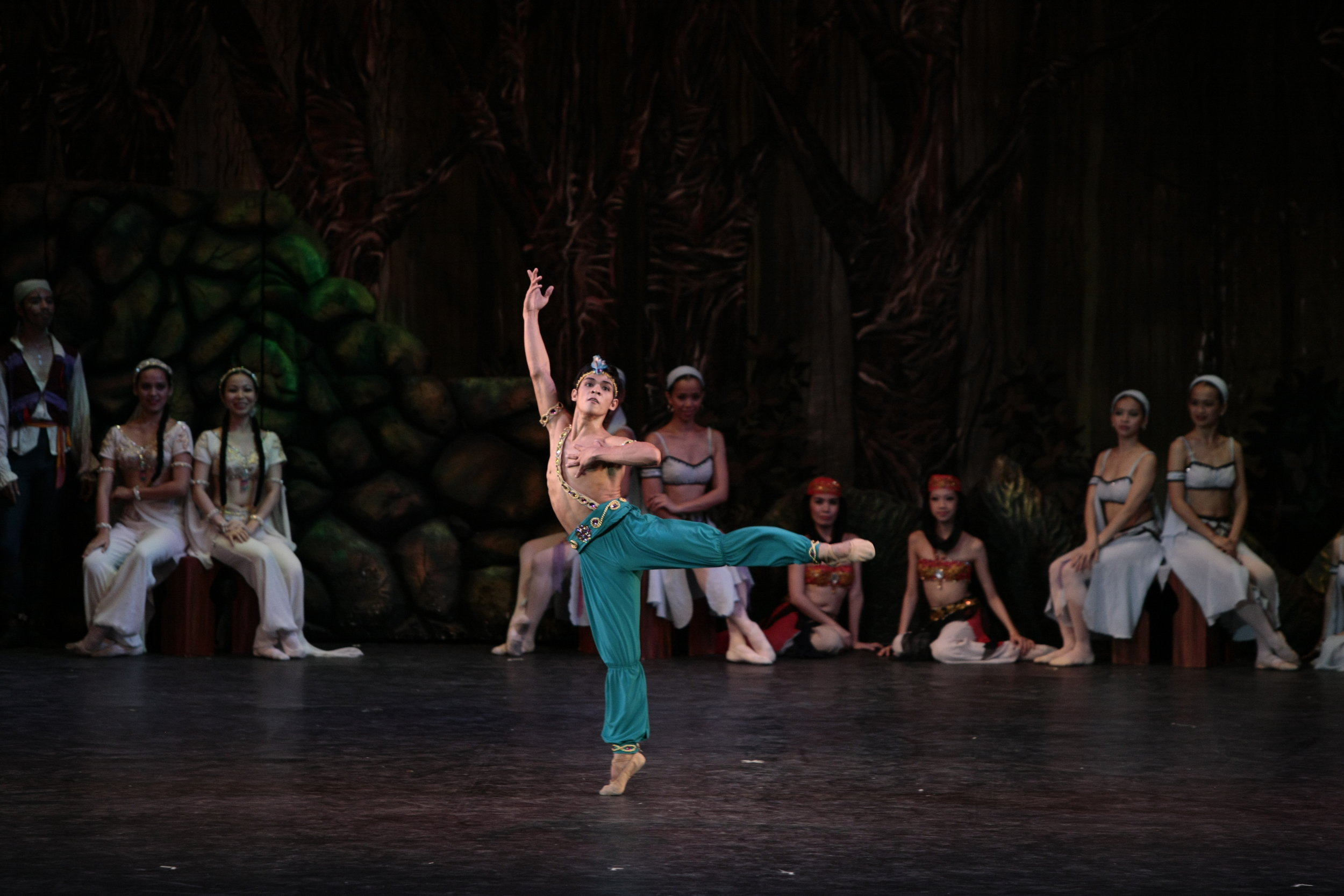Since first dancing the Ali variation for a competition, Geri Francisco has been cast in the same role in every  Le Corsaire  production of Ballet Manila since joining the company in 2003. Photo by Ocs Alvarez