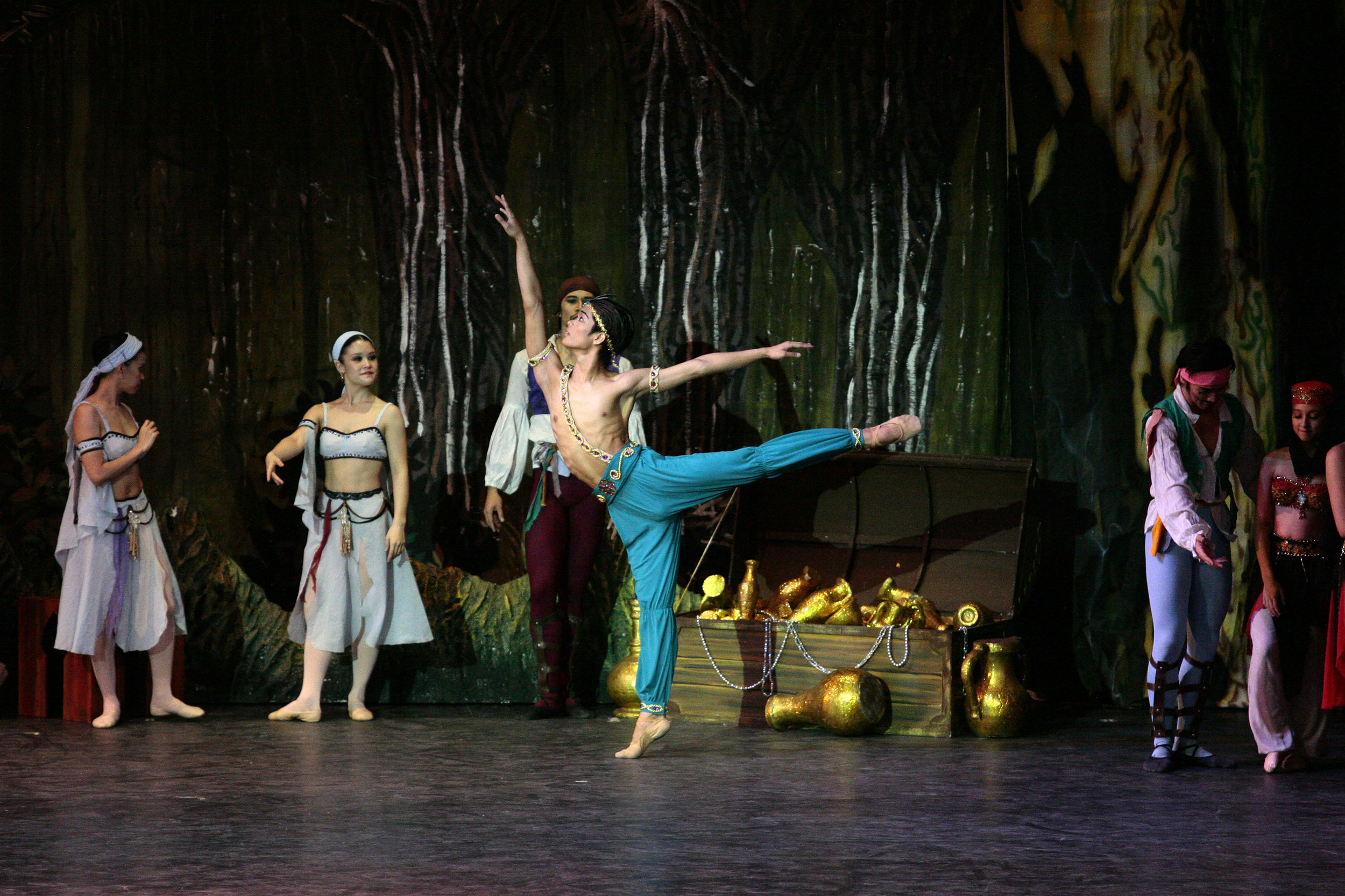 Principal dancer Elpidio Magat Jr. performed Ali in the 2010 restaging of  Le Corsaire . For the 2018 restaging, he will be performing Lankadem instead. Photo by Ocs Alvarez