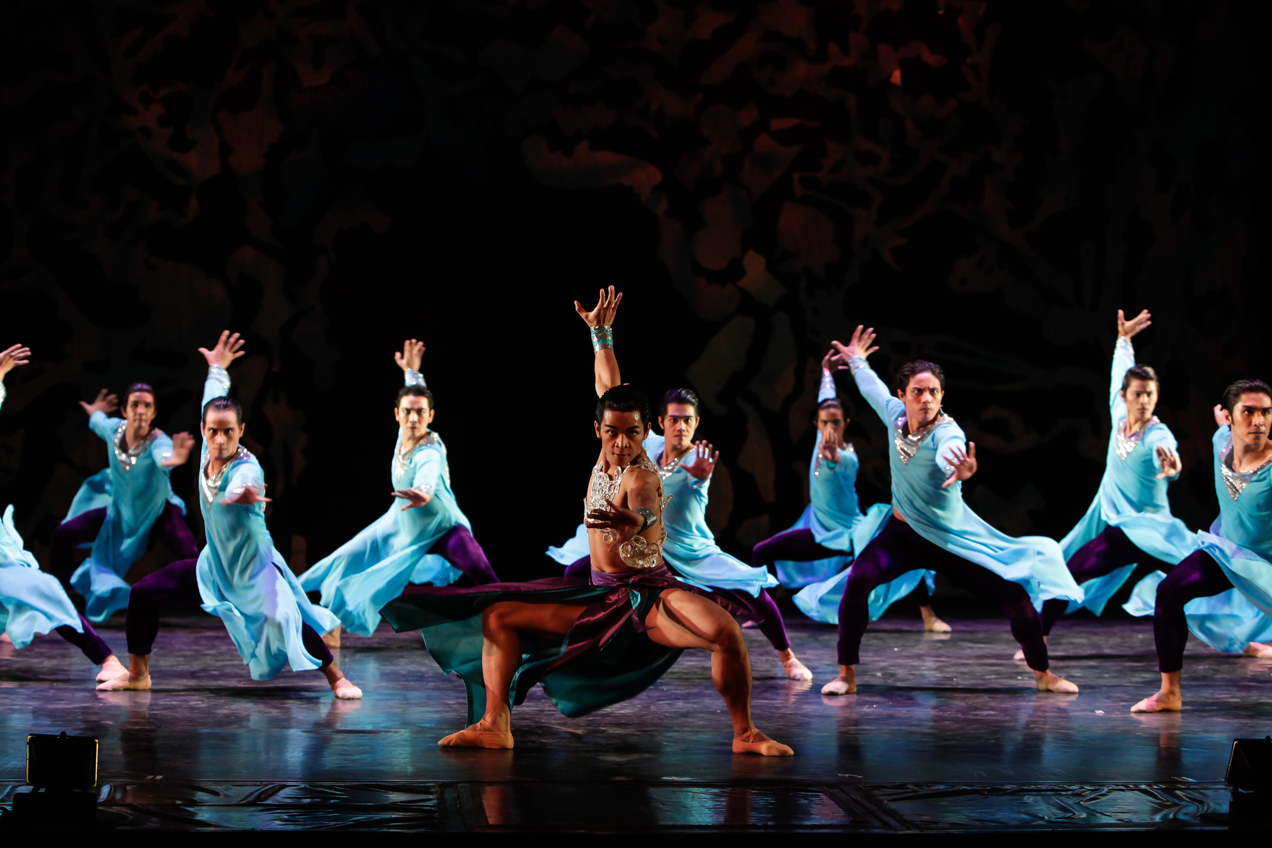 """Production photos of Ballet Manila's """"Heart to Heart"""" with the West End Mamas and Papas. Performed at the Aliw Theater."""