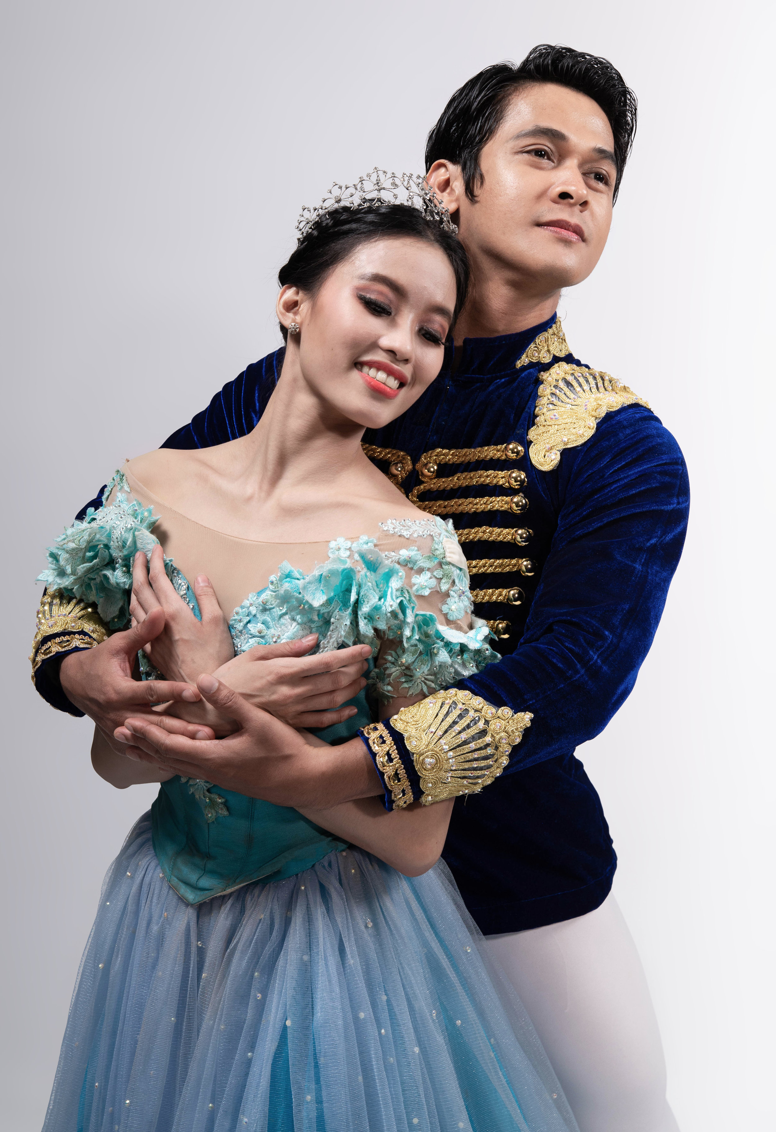 Joan describes fellow principal dancer Rudy De Dios, her Prince Charming in  Cinderella , as a very giving partner who inspires her to believe in herself. Photo by MarBi Photography