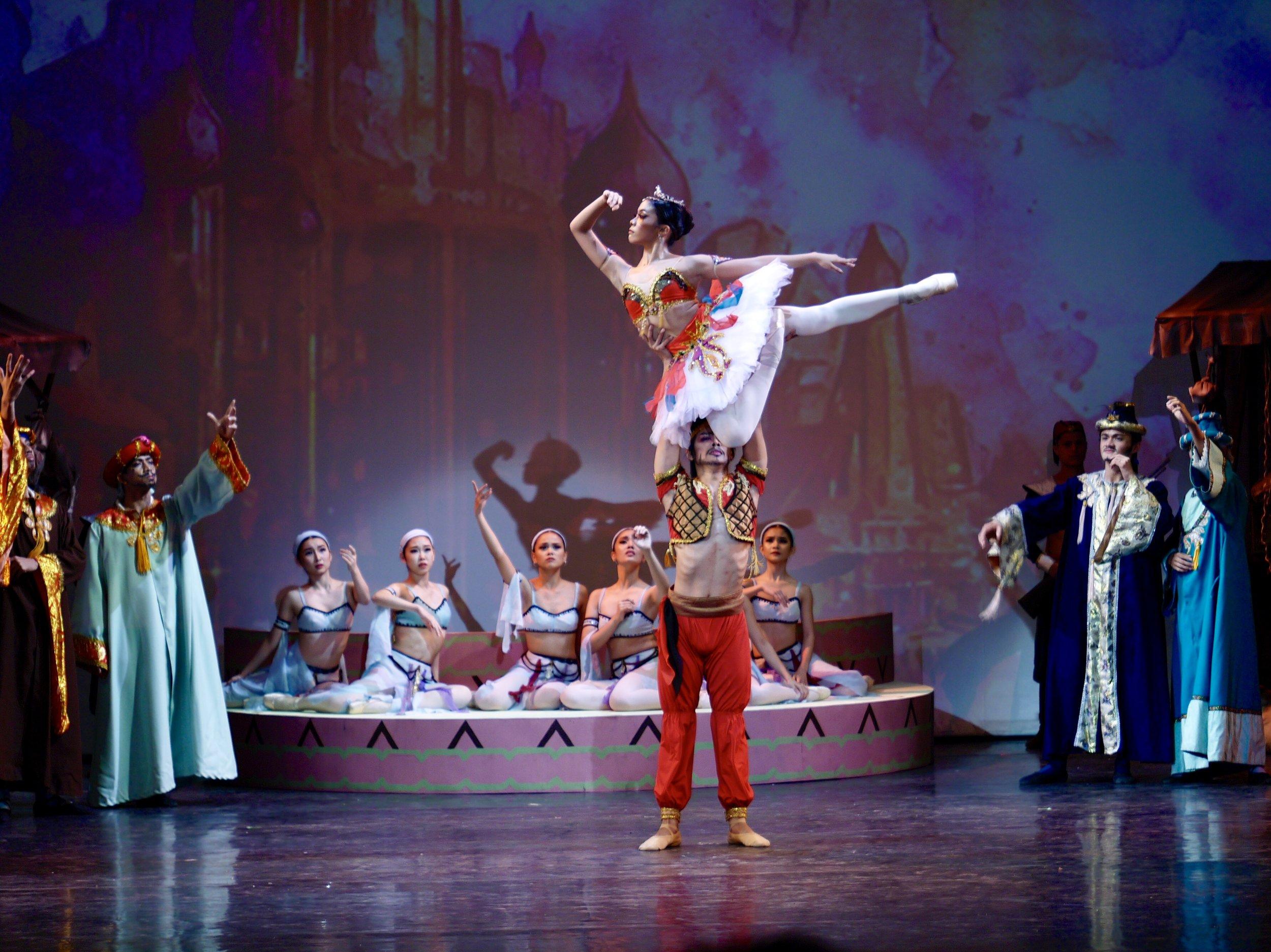 Nicole Barroso dances as Gulnara in Ballet Manila's production of  Le Corsaire . Photo by Giselle P. Kasilag