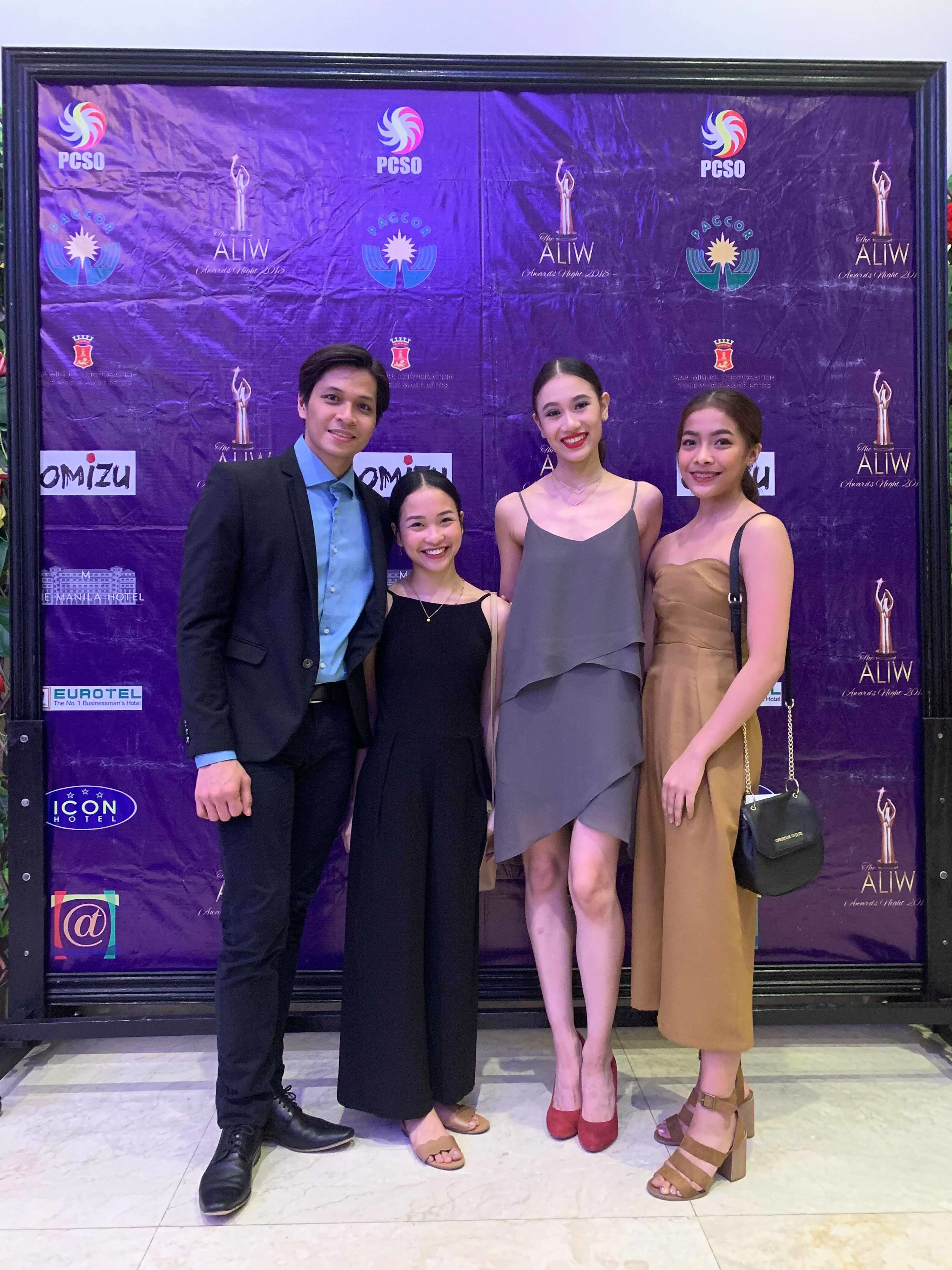 Ballet Manila nominees as Best Classical Dancer: (from left) soloists Mark Sumaylo and Jasmine Pia Dames, principal dancer Abigail Oliveiro and soloist Nicole Barroso