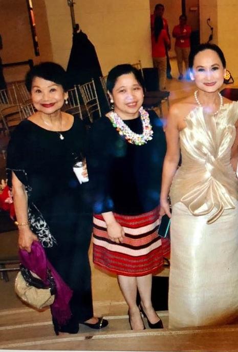 Ballet Manila treasurer Susan Macuja, DFA's Atty. Theresa Dizon-De Vega and Ballet Manila artistic director Lisa Macuja-Elizalde