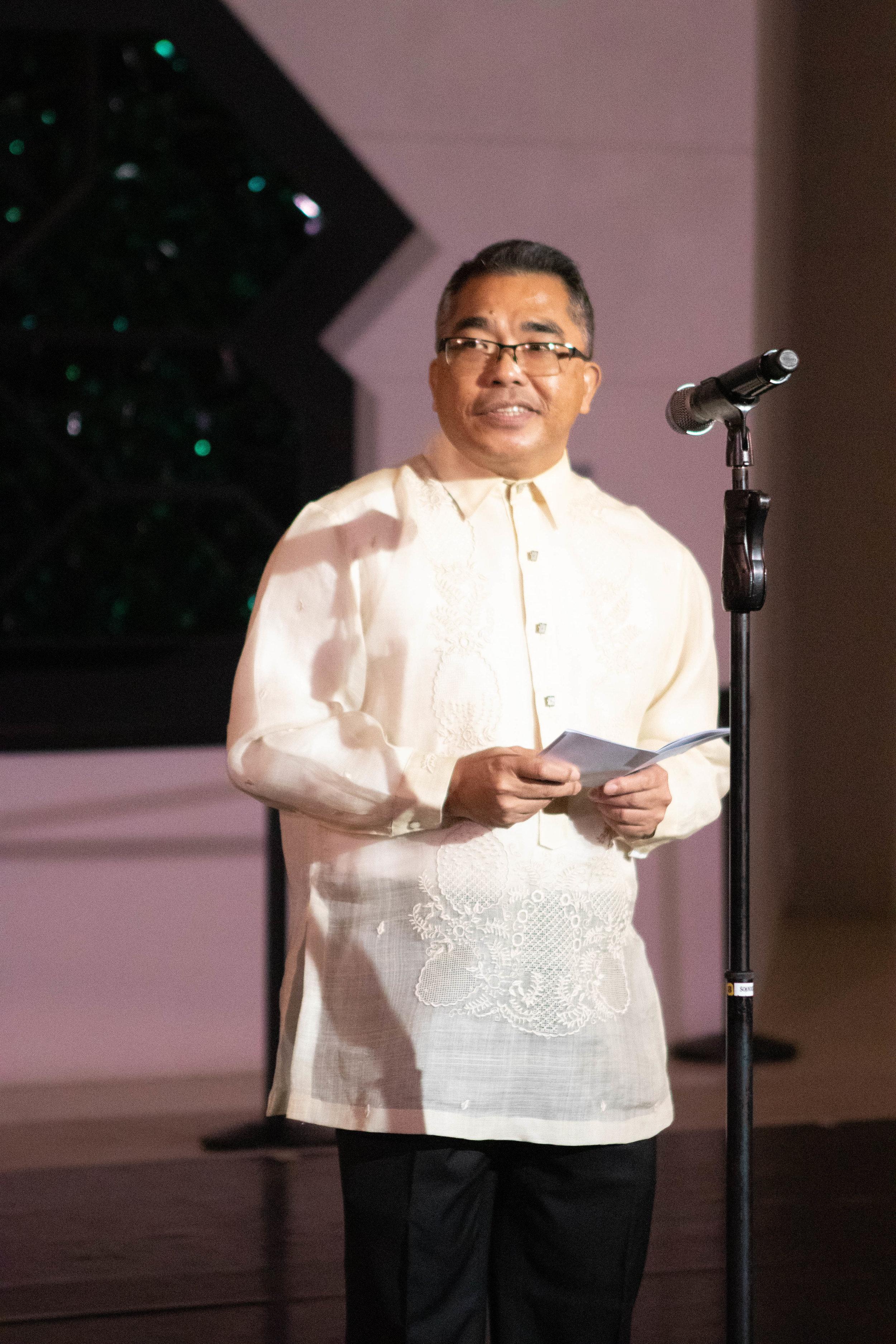 Assistant Secretary Meynardo Montealegre hosts the event.