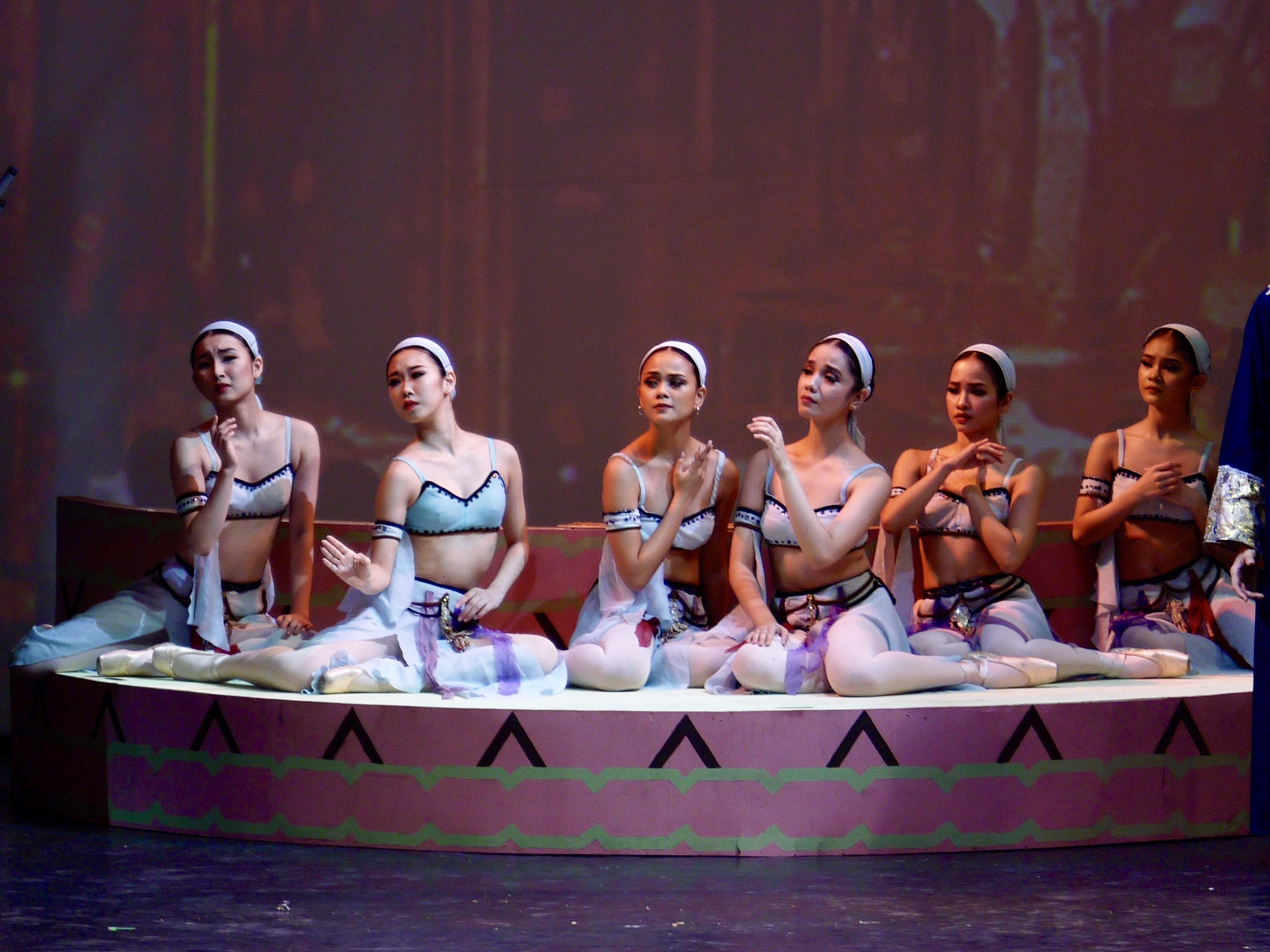 In the pirate epic  Le Corsaire , Nanami (leftmost) plays one of the Seashore Girls being sold to slavery. Photo by Giselle P. Kasilag