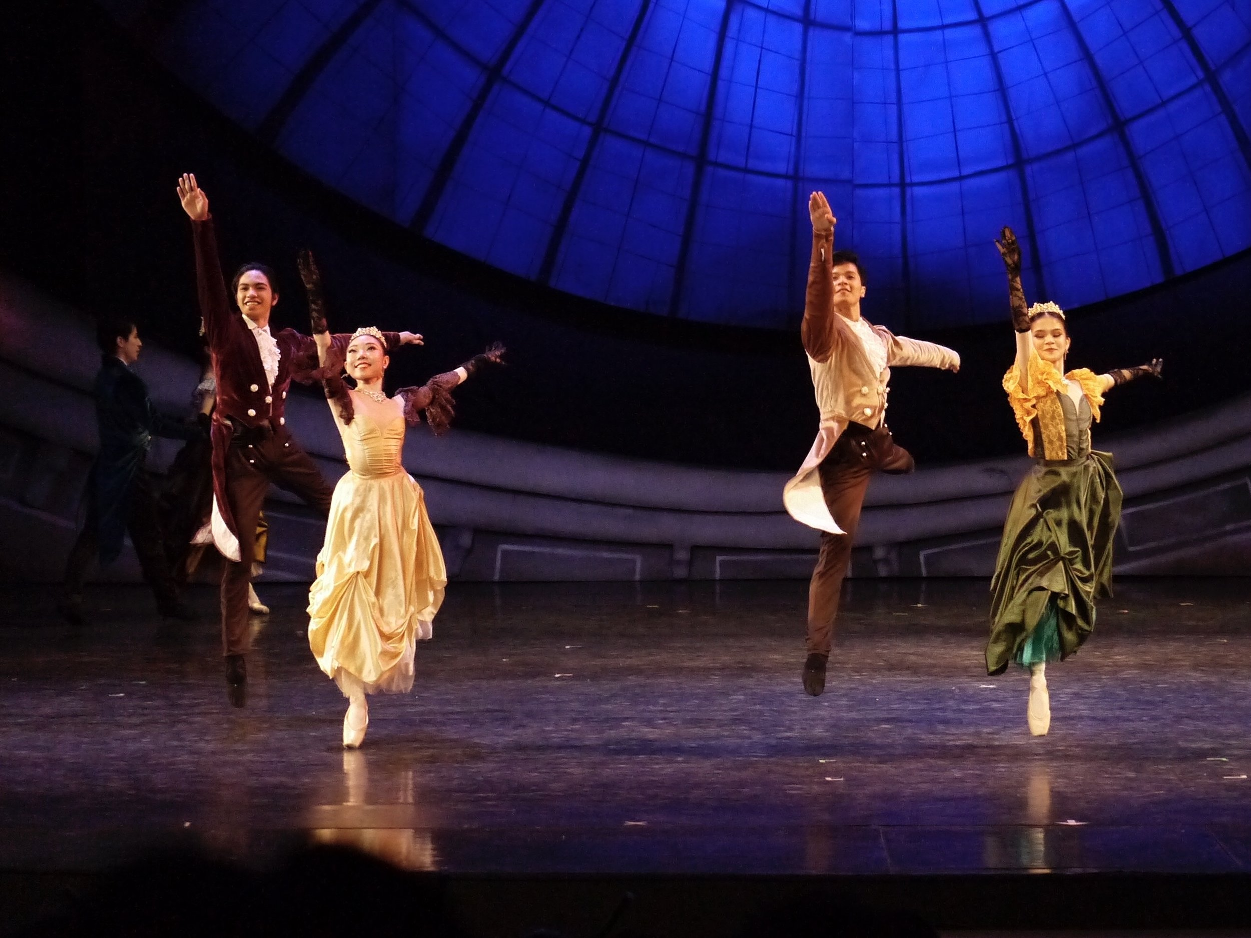 Kotomi (second from left) dances at the palace ball in  Cinderella , Lisa Macuja-Elizalde's interpretation of the fairy-tale classic. Giselle P. Kasilag