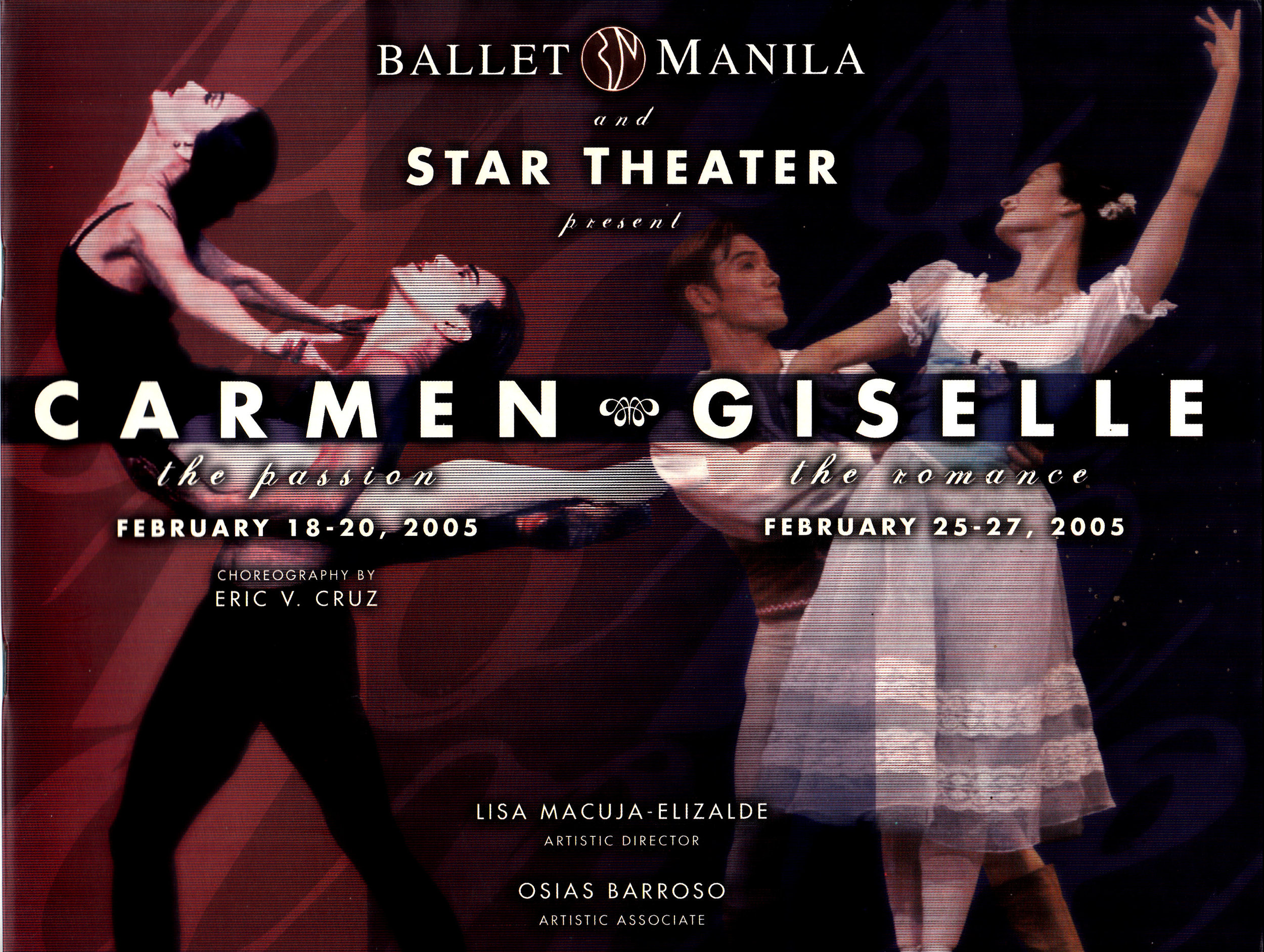 Souvenir program of Ballet Manila's groundbreaking double feature to close the company's 10th performance season. From the Ballet Manila Archives collection